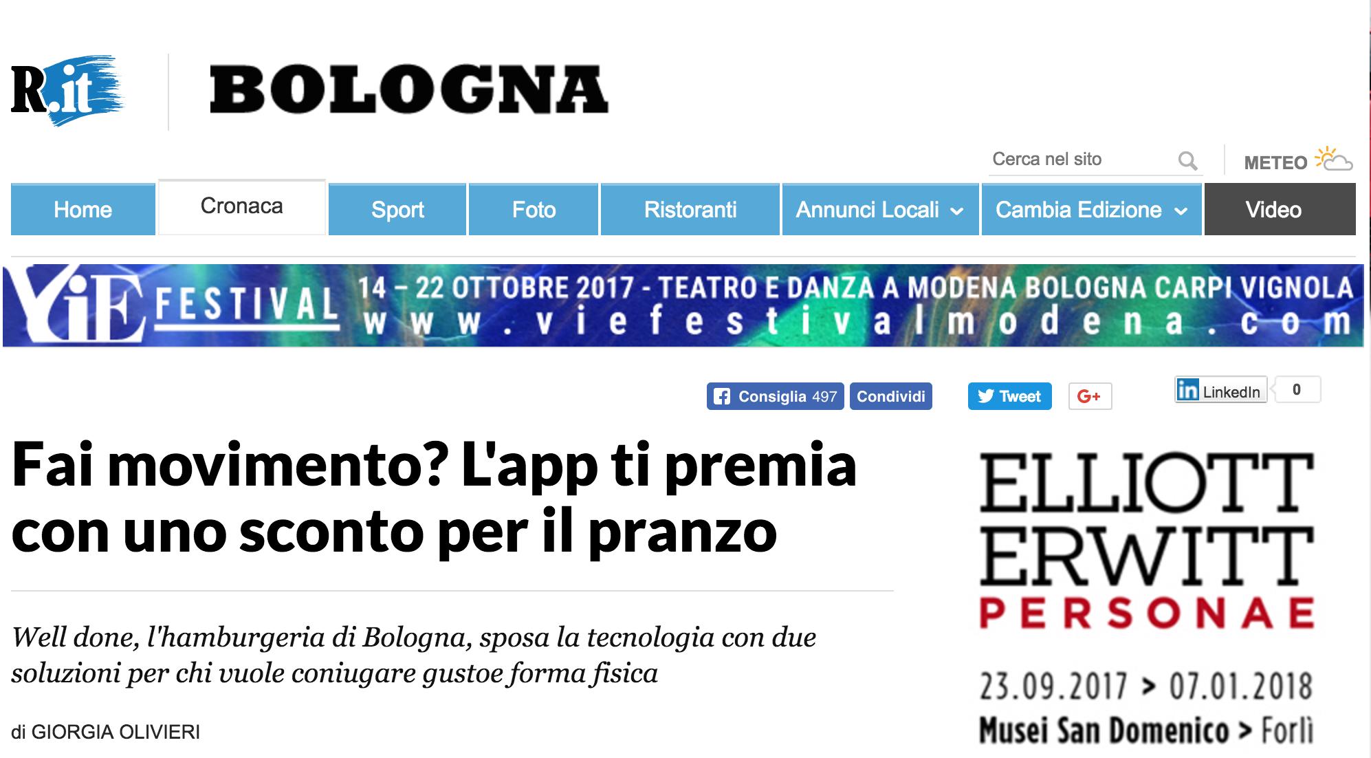 fai movimento? l'app di premia con uno sconto per il pranzo - La Repubblica, November 2015