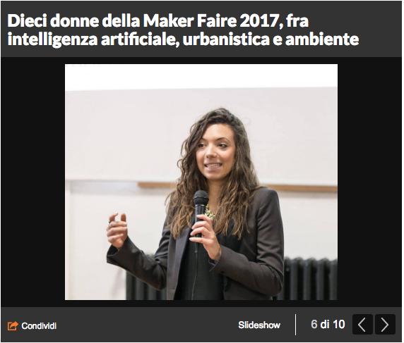 Dai robot allo spazio. Alla Maker Faire il volto femminile dell'innovazione - Repubblica, Nov 2017