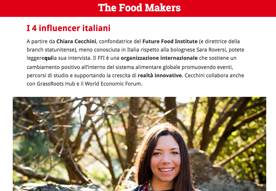 AgriFoodTech, ecco i top influencer italiani nel mondo - Startup Italia, April 2019