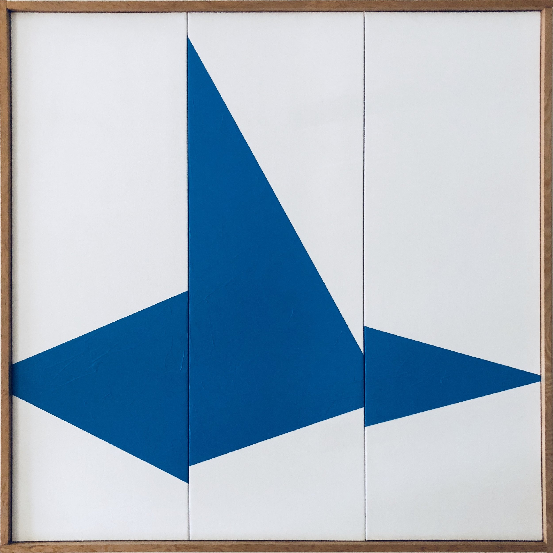 Blue On Point Triptych JET0603. - Image 1.JPG