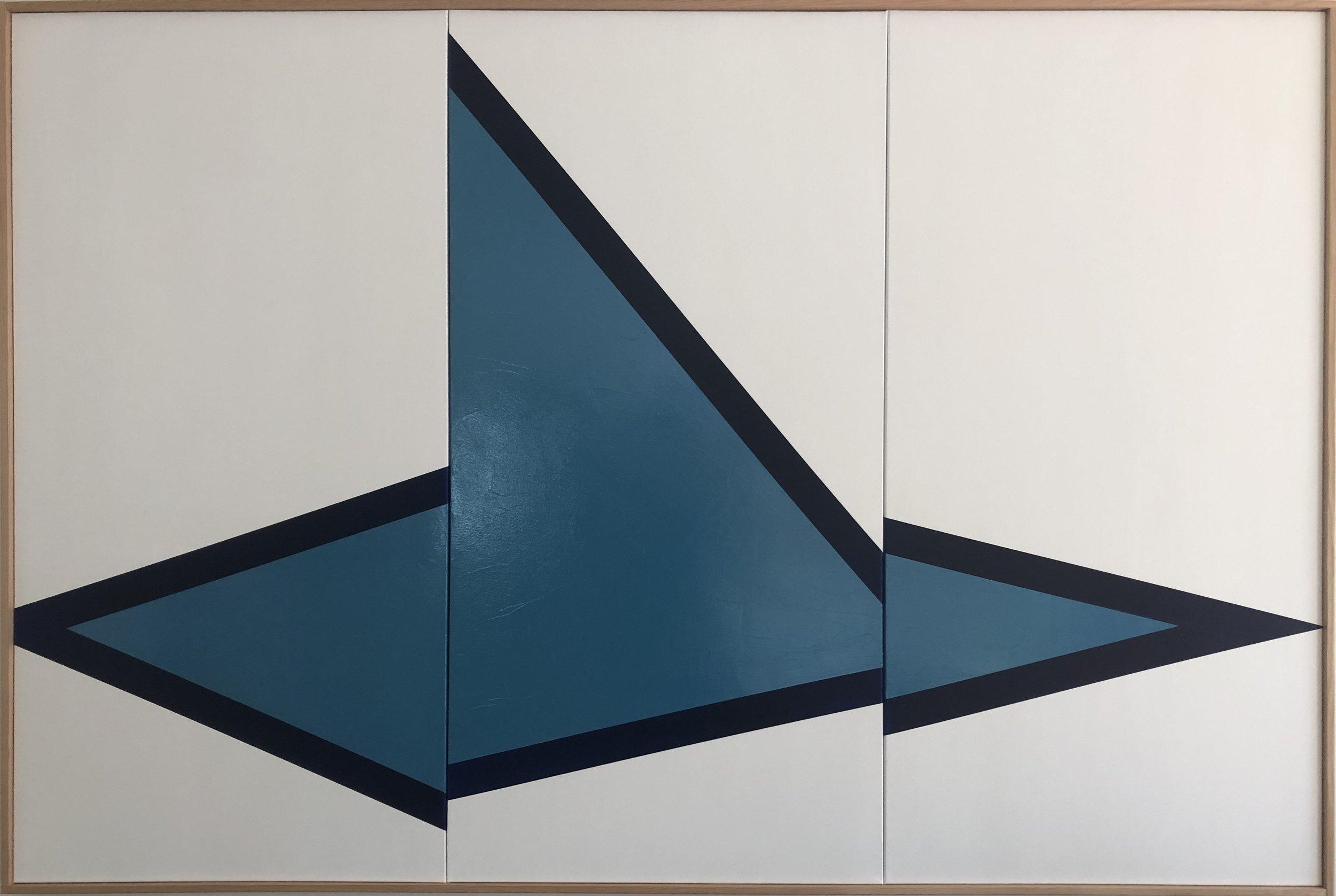 Blue On Point Triptych JET0639 - Image 1.JPG