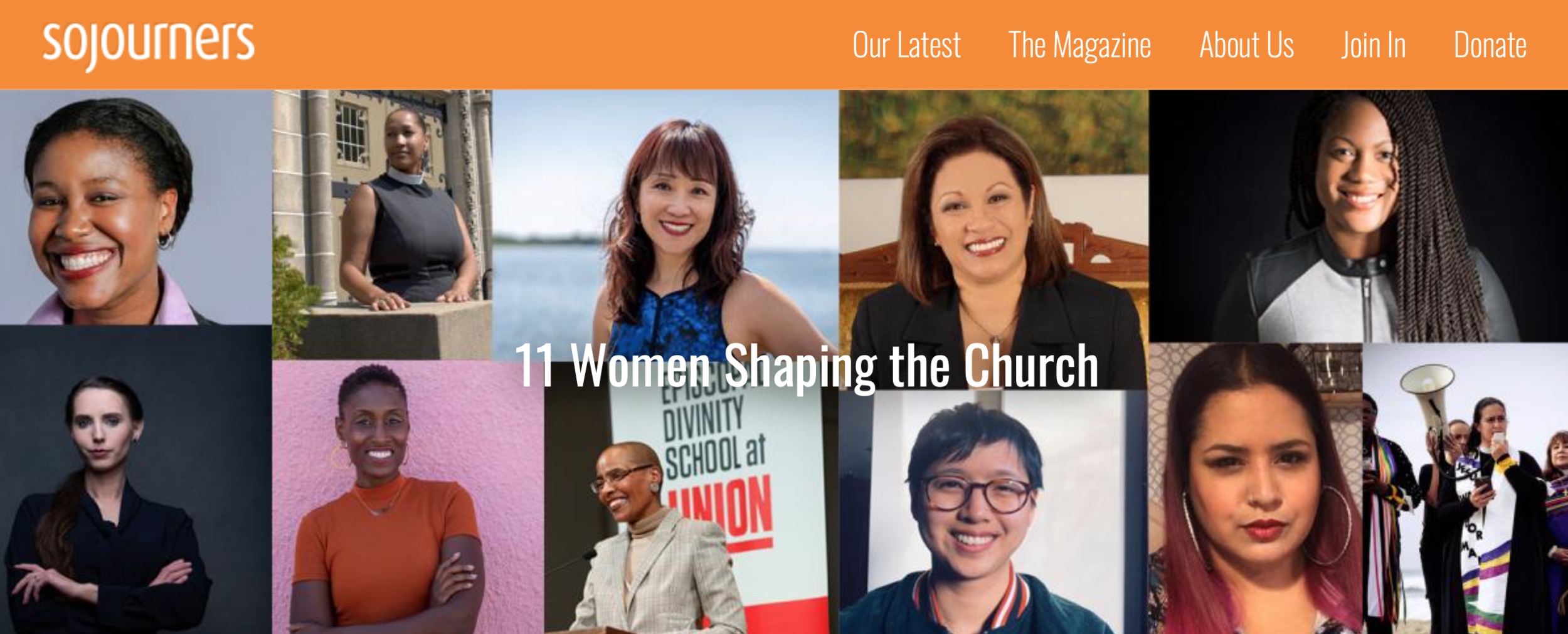 """11 Women Shaping the Church"" - Sojourners, March 2019"