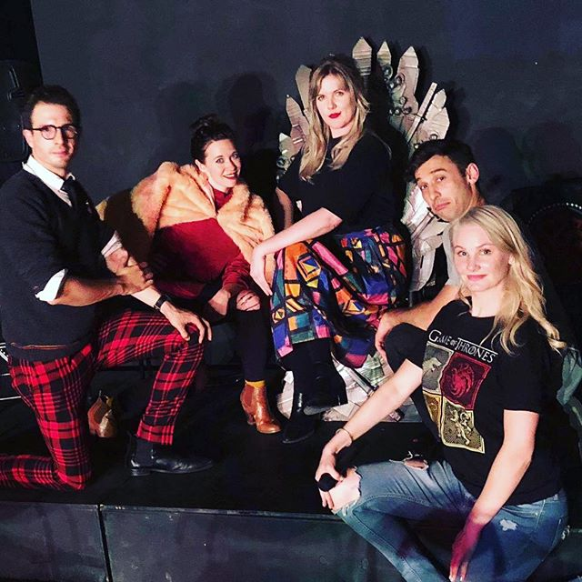Targaryen wins again! Well done @sophiekneebone ! Thanks to all the other hilarious players - you did your houses proud! New line up tonight featuring @clairekoolkat , @davidmassingham , @riksplosive and @candiced16 ! Ticket link in bio🔥🔥🔥🔥