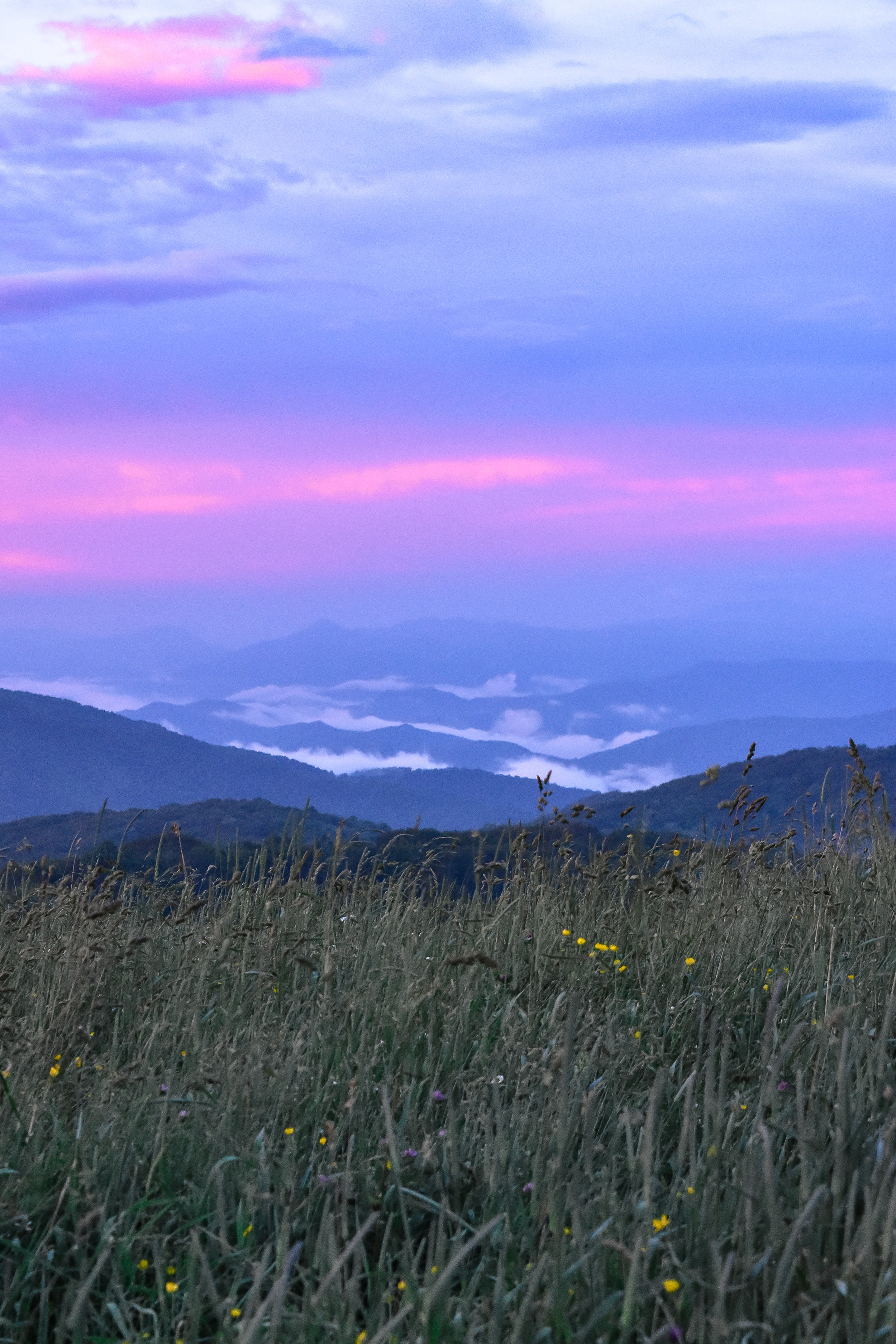 The weather and sunset at Max Patch provided for the coolest mountaintop experience
