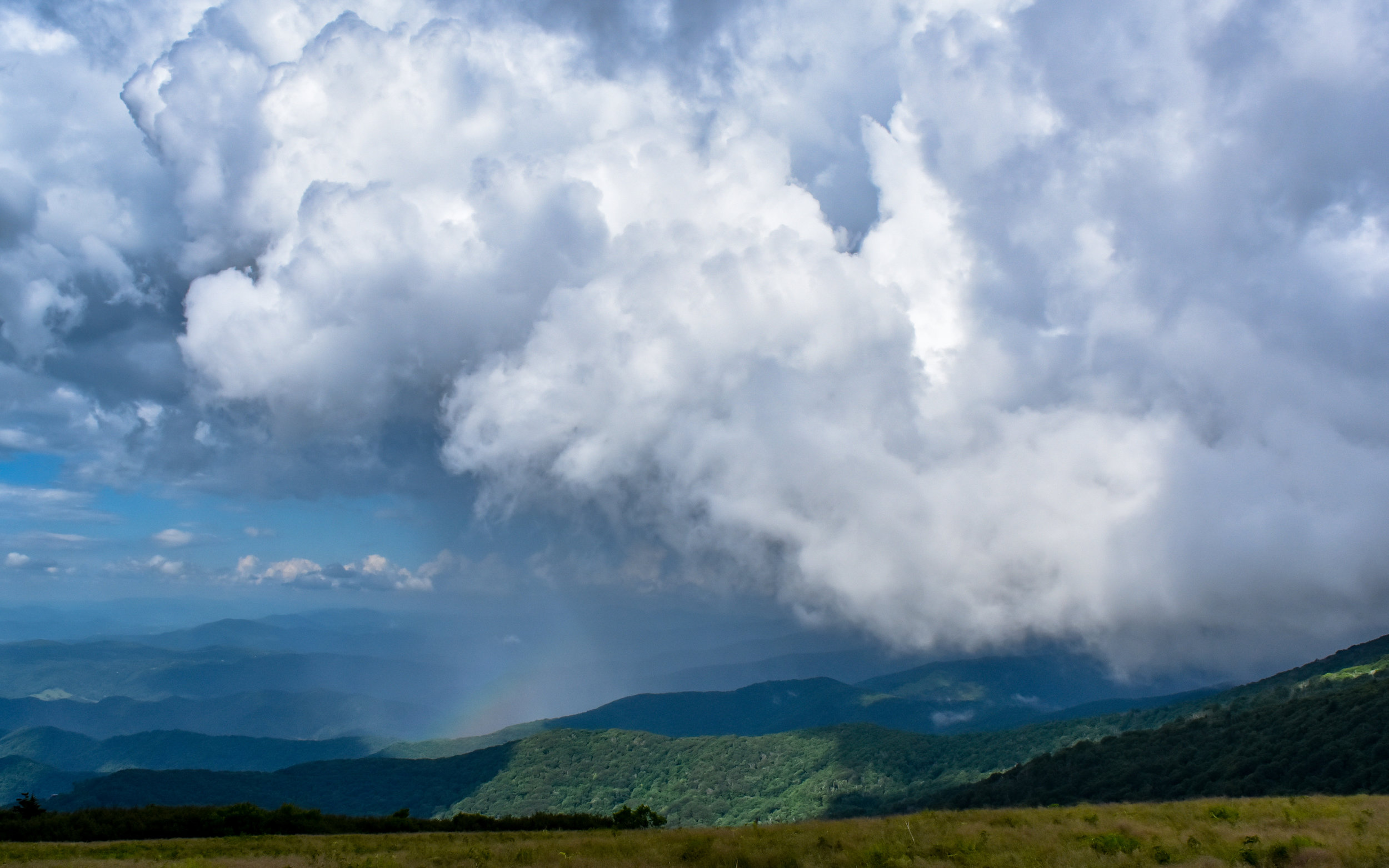 Clouds moving through Roan Mountain