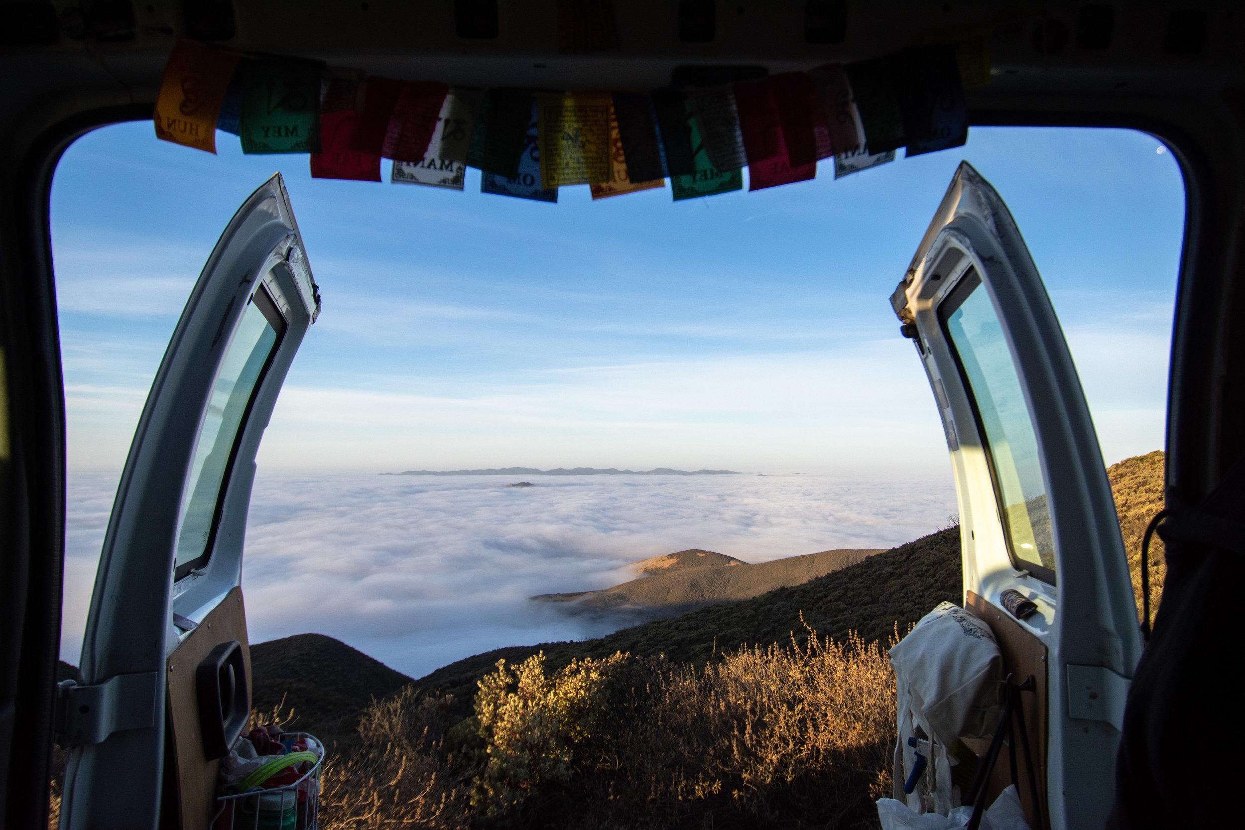Sunrise in San Luis Obispo above the clouds