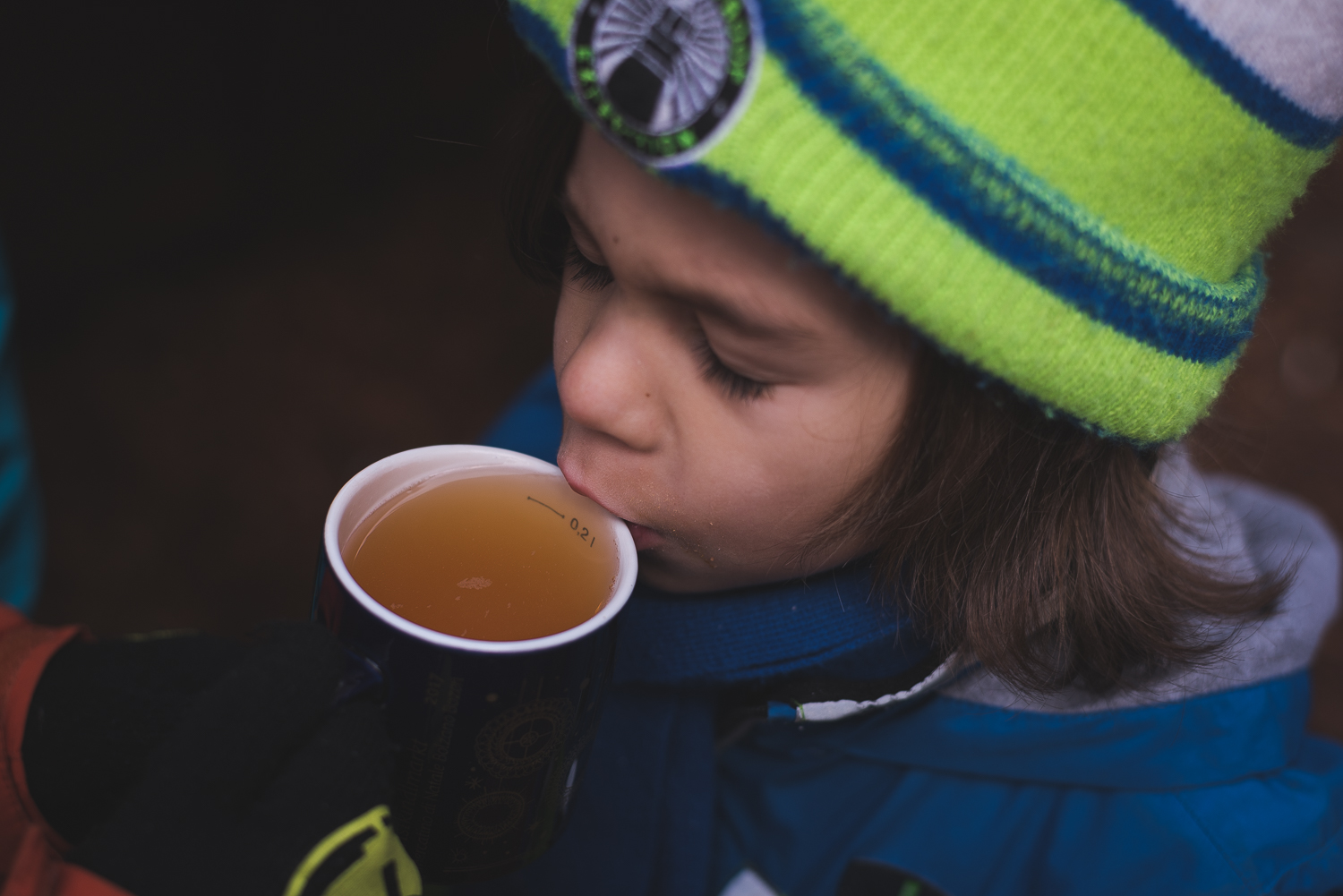 First tastes of Italy's children hot drink, hot apple juice. In Germany, it's Kinderpunch which is much different.