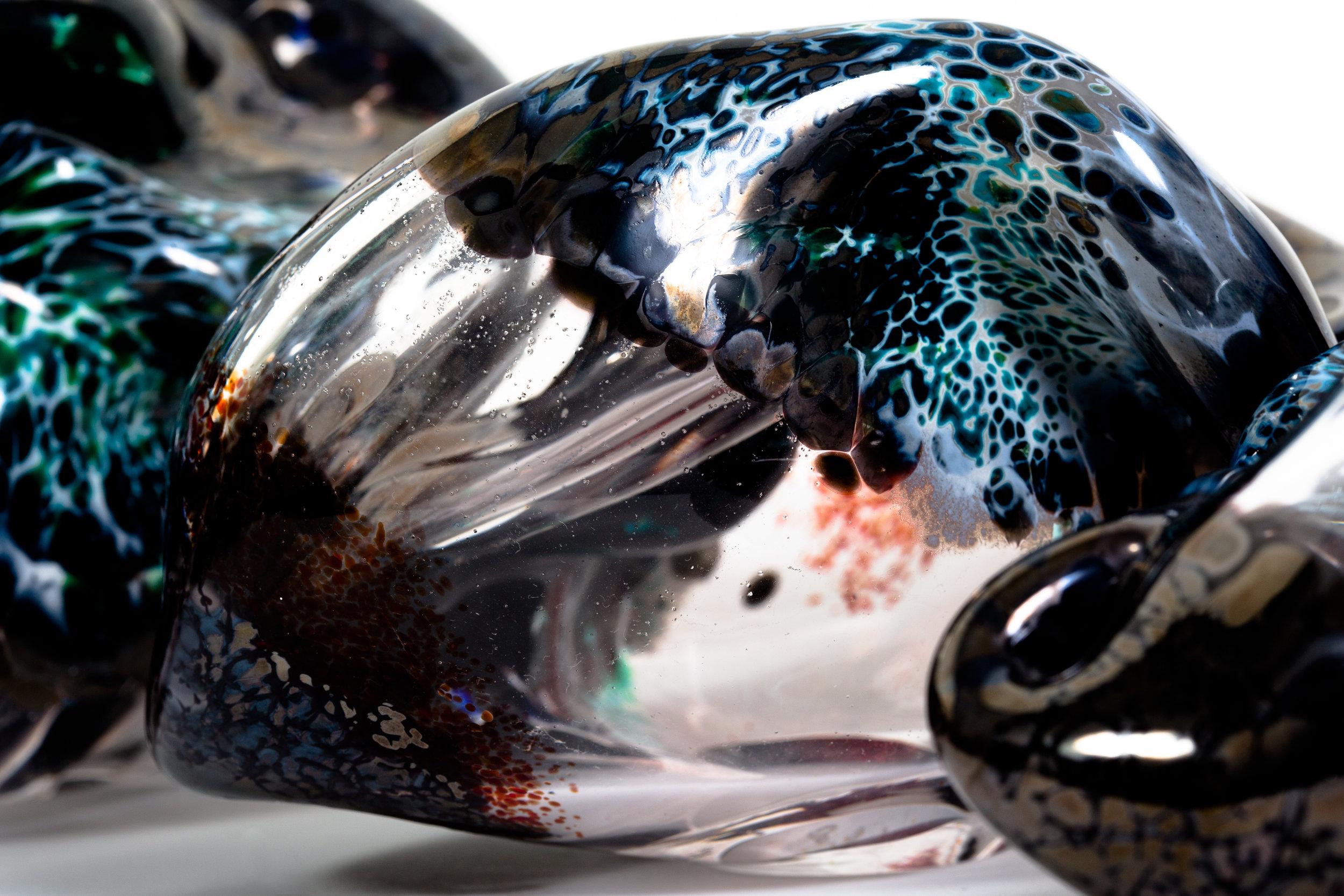 Sequential Distortion( detail) Blown glass