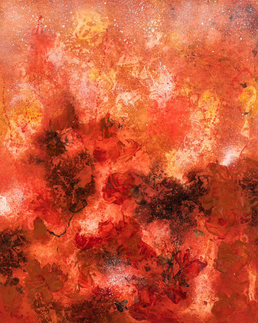 Solar Vortex, oil on canvas, 127 x 102cm