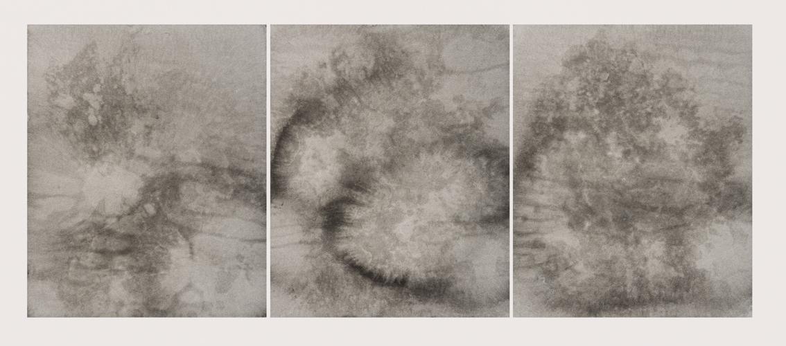 Cosmic Echo, mixed media on paper, 30 x 70cm
