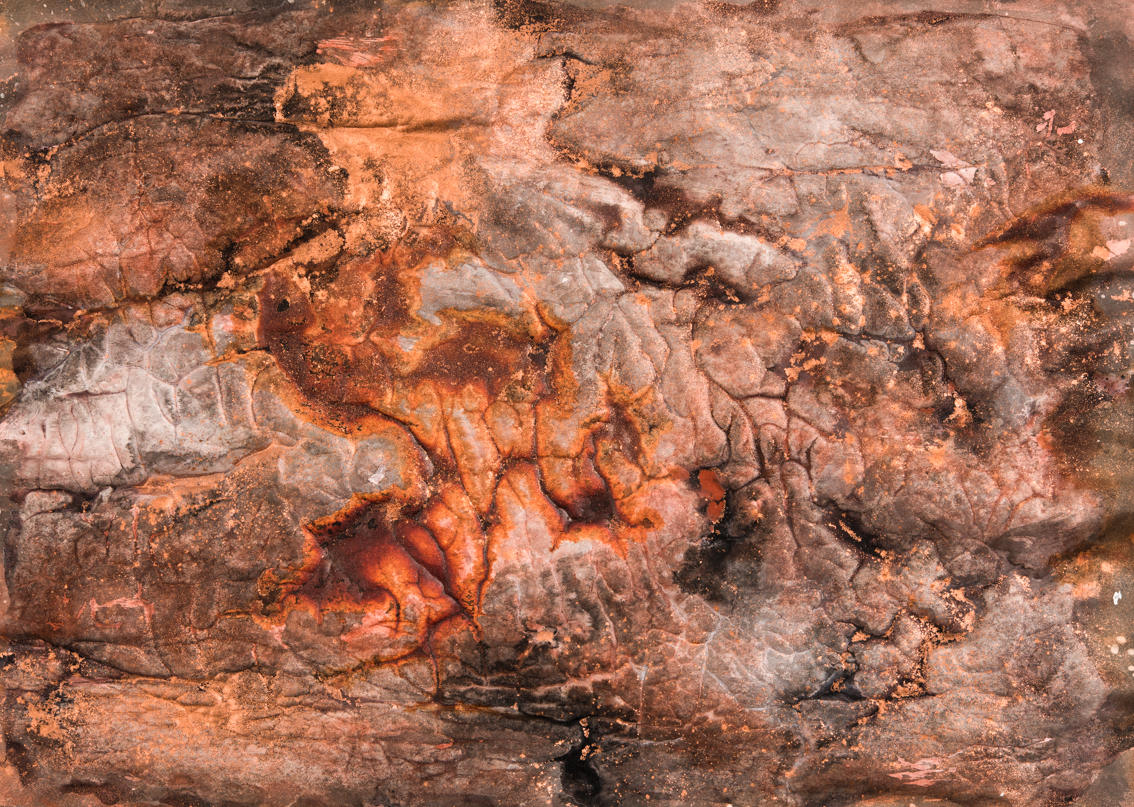Molten Surface I, mixed media on paper, 40 x 58cm