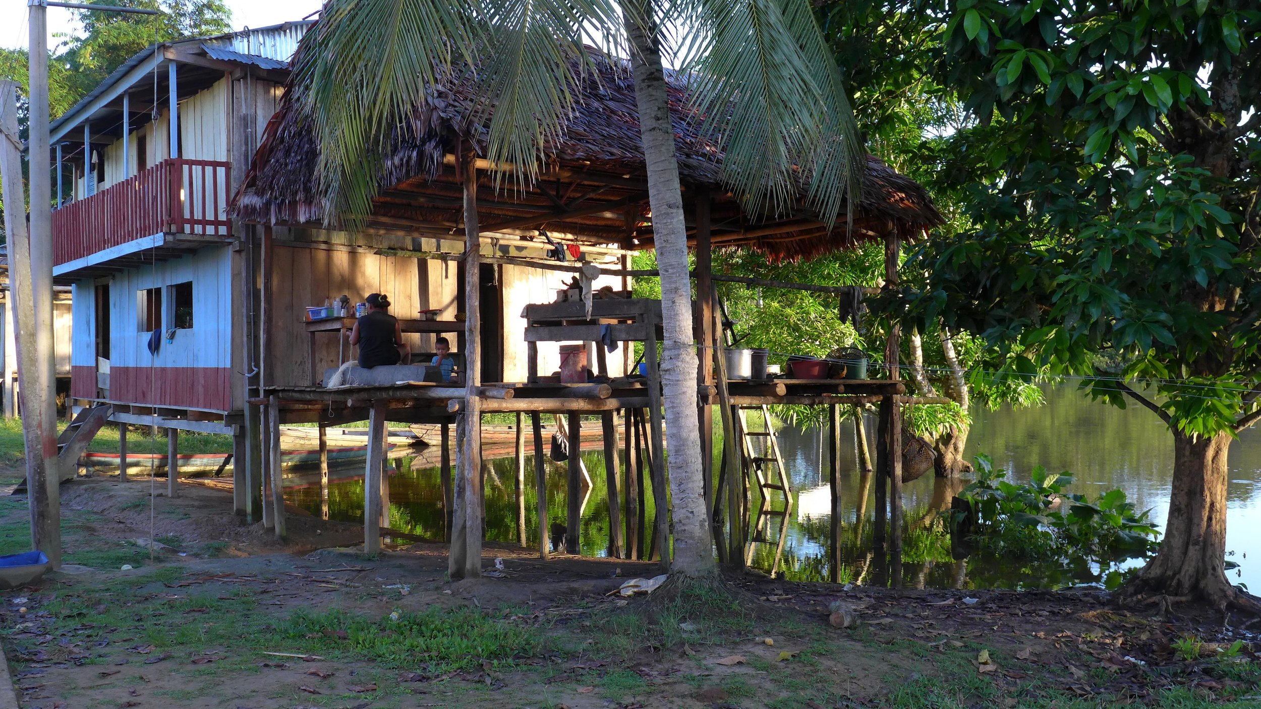 Many Amazonian dwellings only last as long as their stilts.