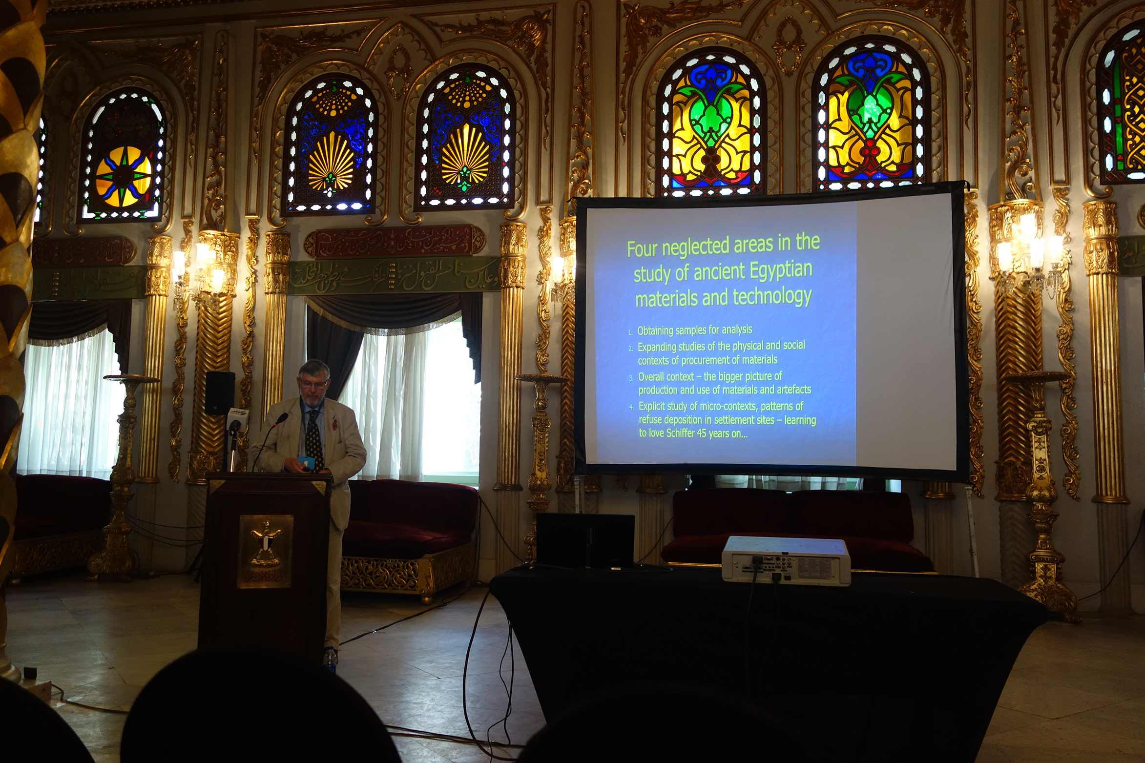 Paul Nicholson (Cardiff University) keynote lecture 'Ancient Egyptian crafts and industries, cultural context of workshop organization and layout' (photo: Giulio Lucarini)