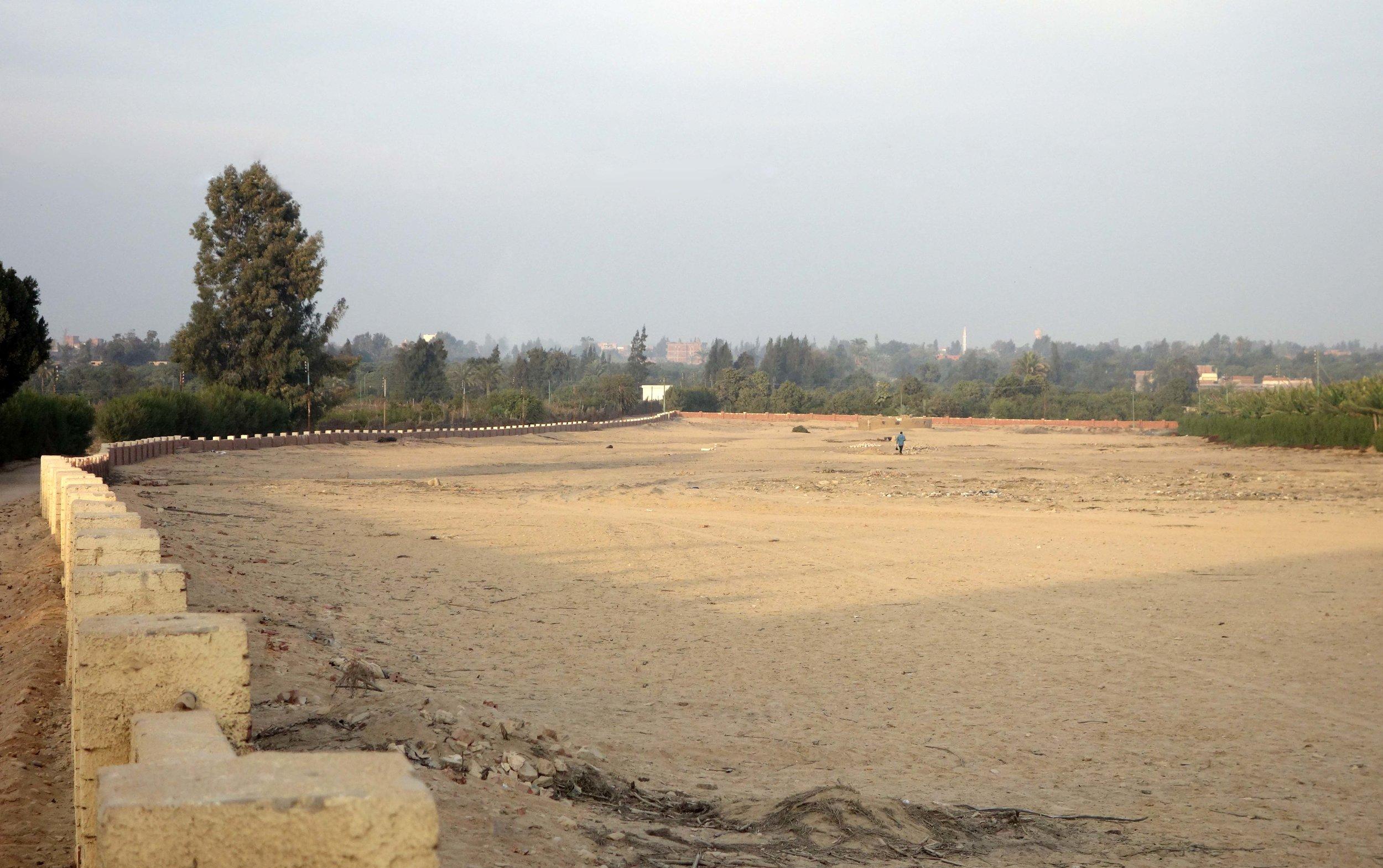 Merimde Beni Salama. View of the site (photo: Giulio Lucarini; ©Egypt Exploration Society)