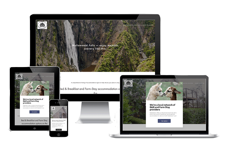 Rural Stay website displaying on different devices demonstrating its responsive web design.