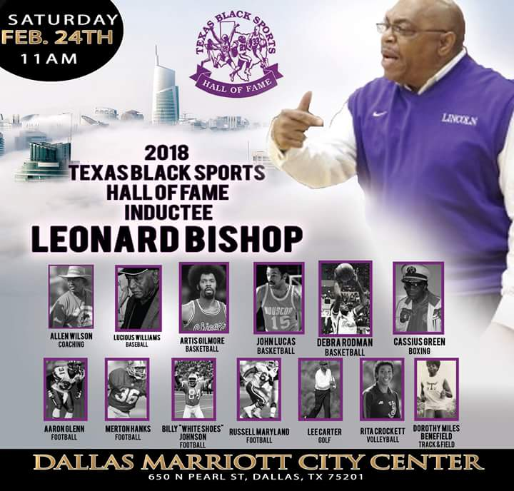 Texas Black Sports Hall of Fame Inductee