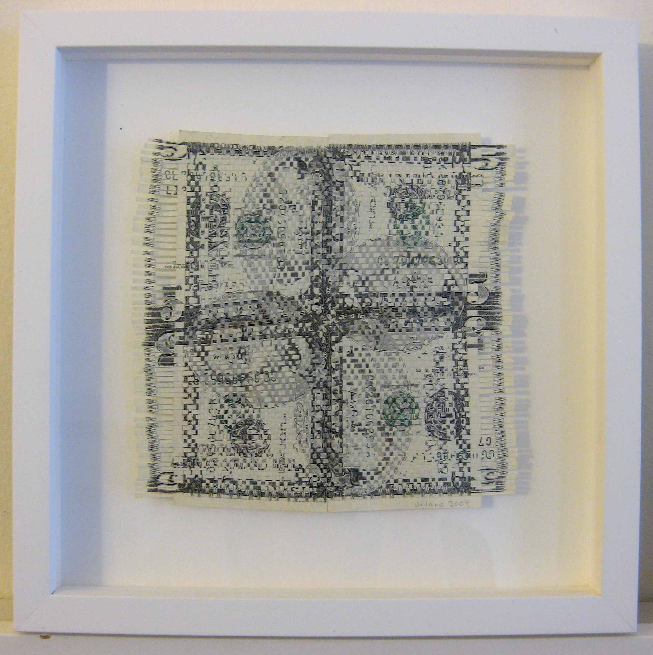 $20 weaving (new fives), 2004