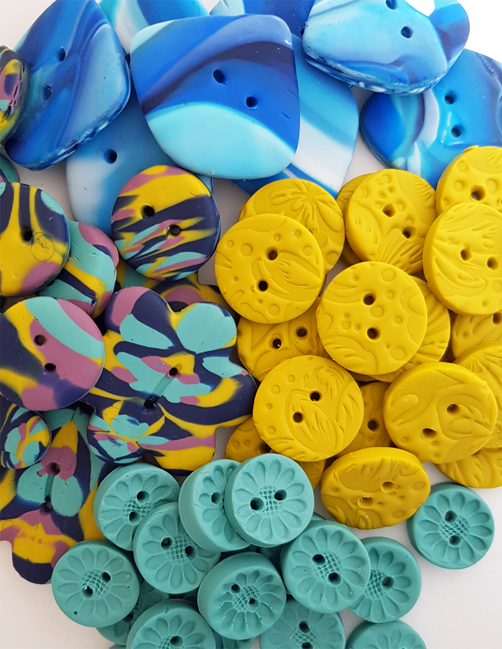 Polymer clay button collection