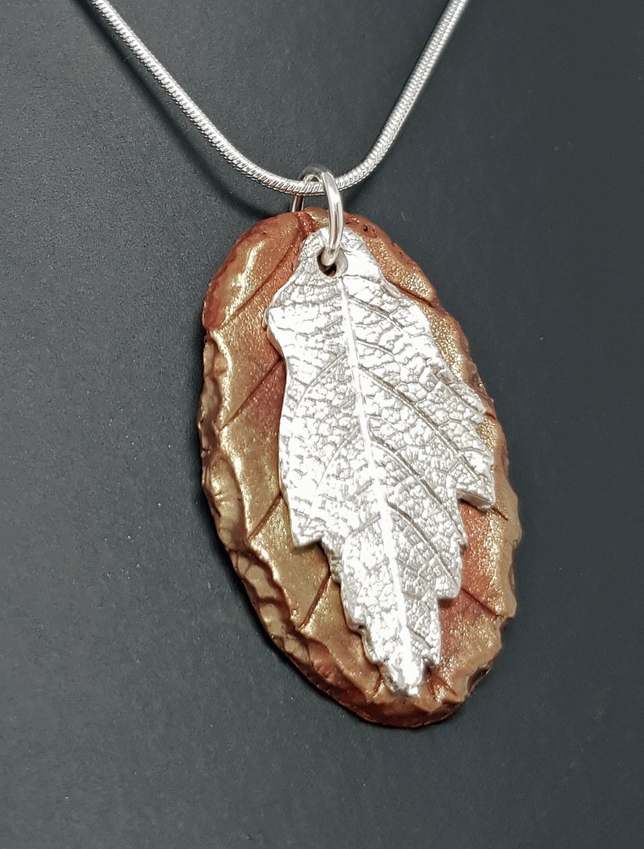 Jan's two-part Best of Both leaf pendant