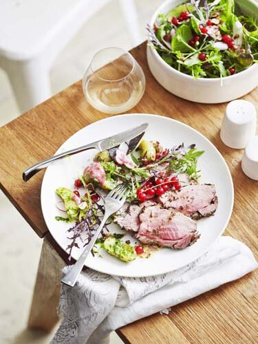 Roasted glazed lamb with herb flowers and redcurrents.jpg