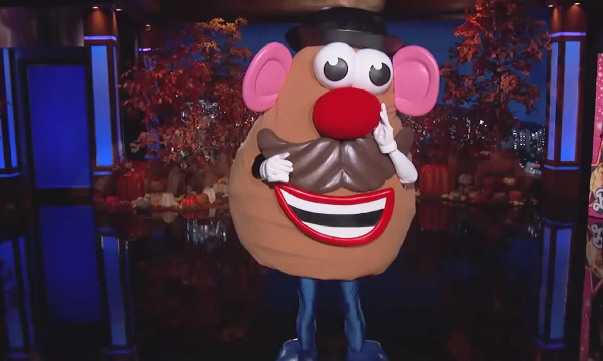 Jimmy Kimmel Halloween-2014 Mr. Potato Head Costume