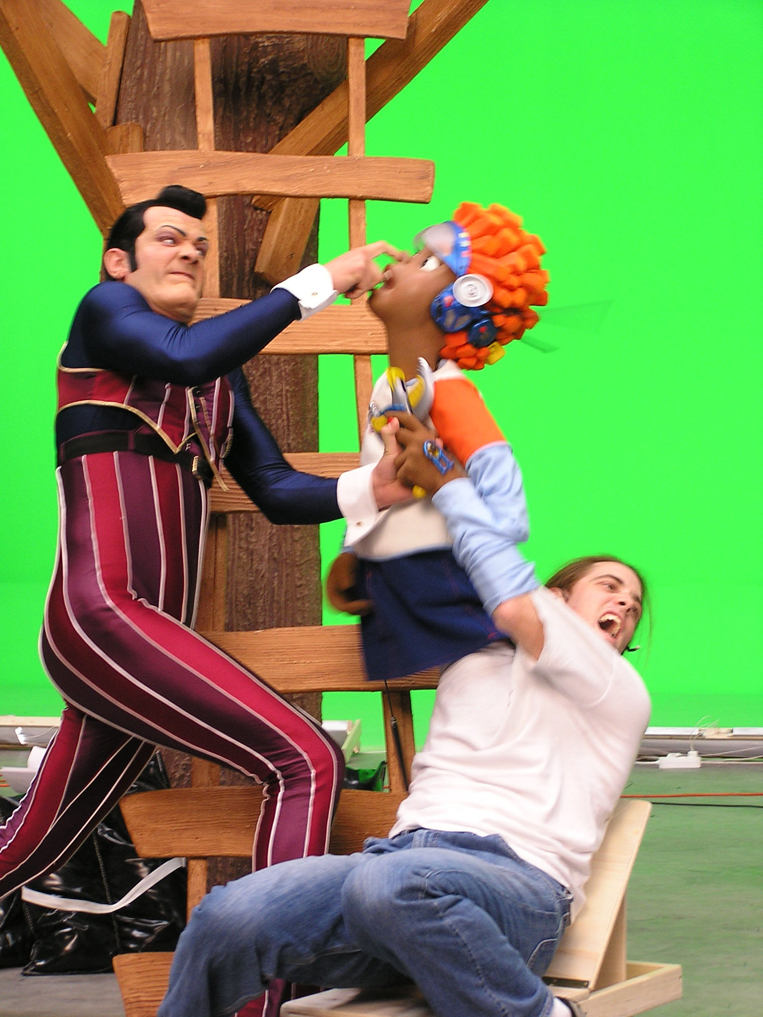 LazyTown-Robbie Rotten and Pixel