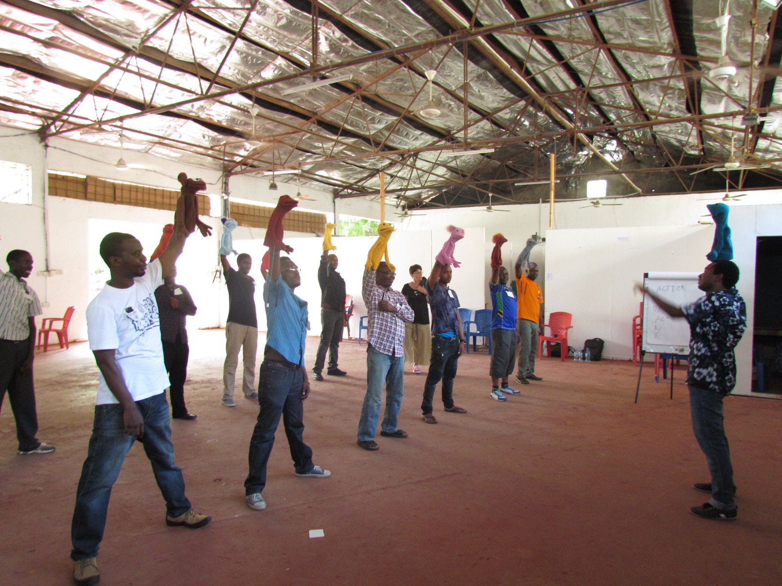 Puppetry Performance Training Workshop in East Africa - Peripheral Visions International Puppetry training in Dar es Salaam, Tanzania, Feb 2016