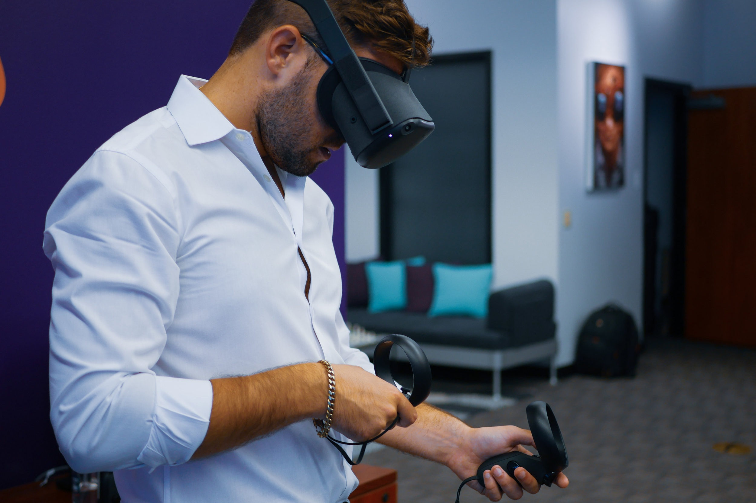 Integrated User Testing - Our Experience Design team conducts regular testing with first-time VR/AR users throughout the development cycle to help simulate each client application's anticipated use environment. This process surfaces non-obvious design and usability issues early, resulting in more intuitive, user-friendly apps at full launch.