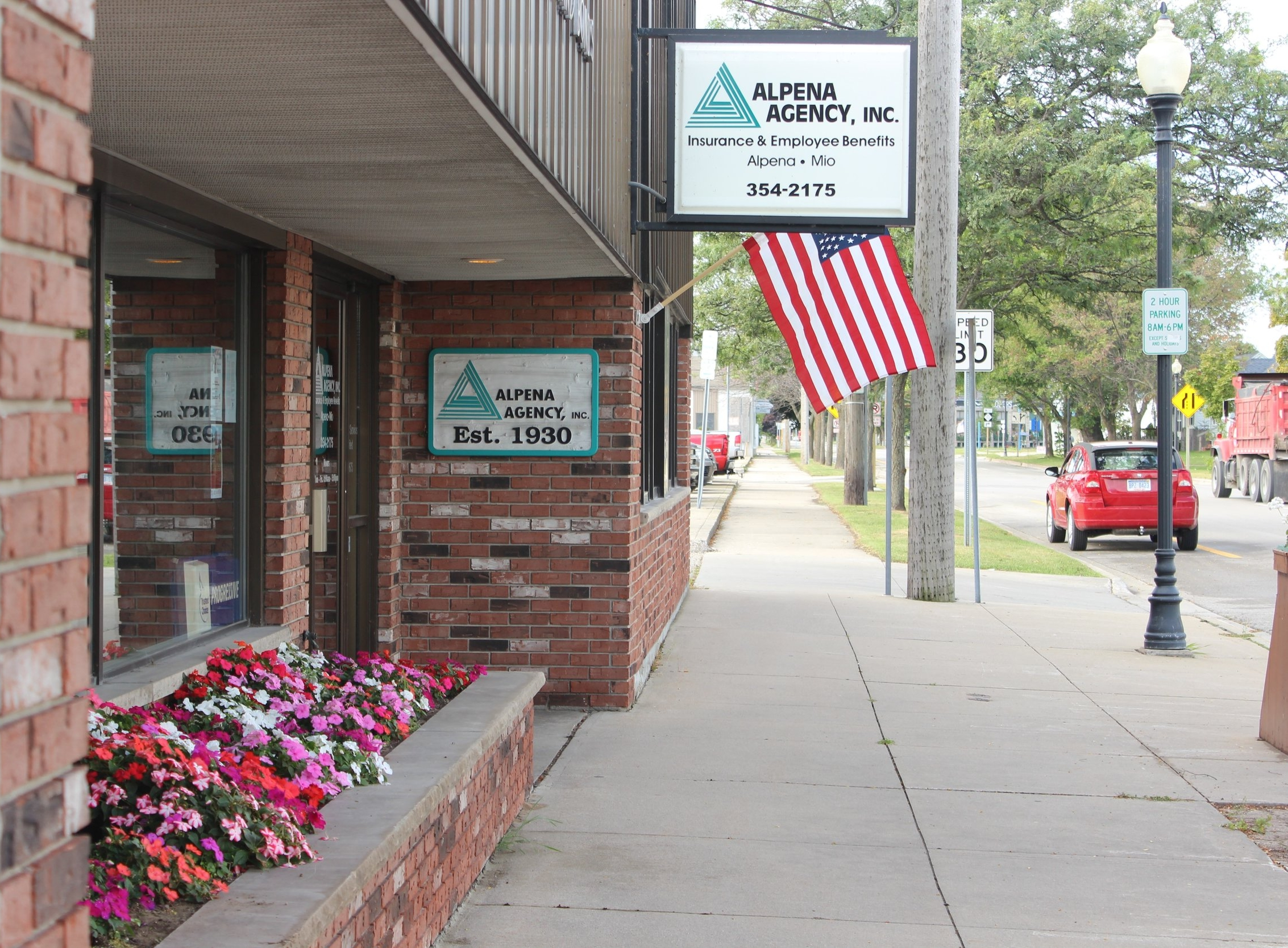Alpena Office - 102 S. Third AvenueAlpena, MI 49707Monday - Friday8am - 5pmCall: (989) 354-2175Email: insurance@alpenaagency.comText:  (989) 354-2175Fax:  (989) 354-8974