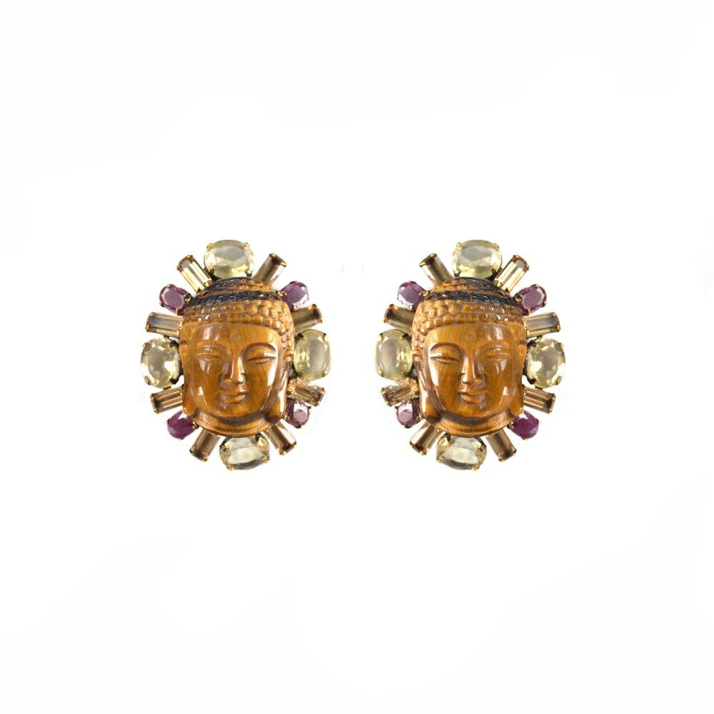 new hand made buddha earings