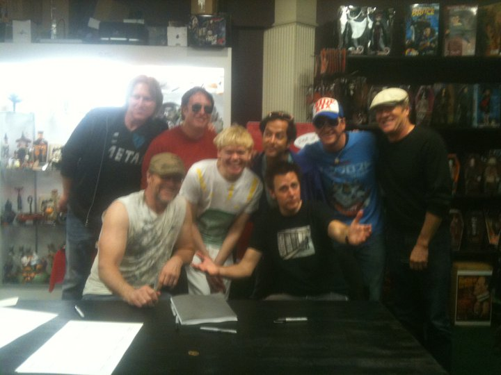 with James Gunn at the Super Soundtrack release