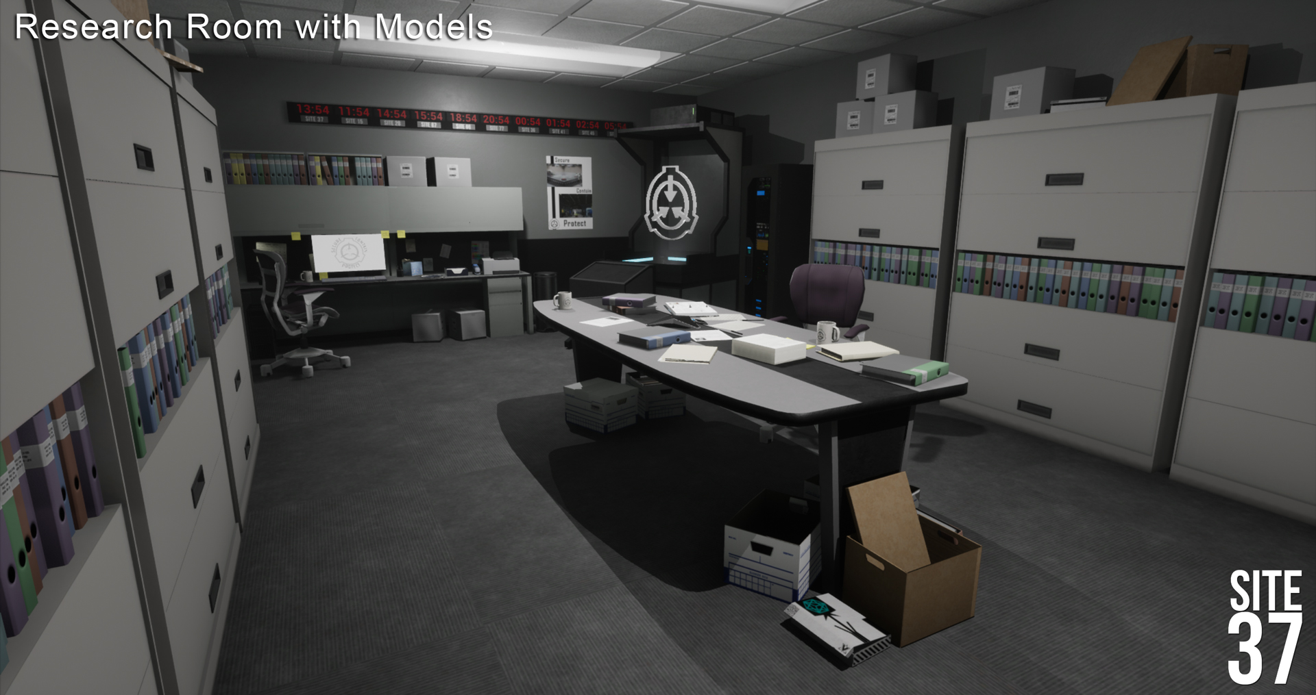 Research Room with Models