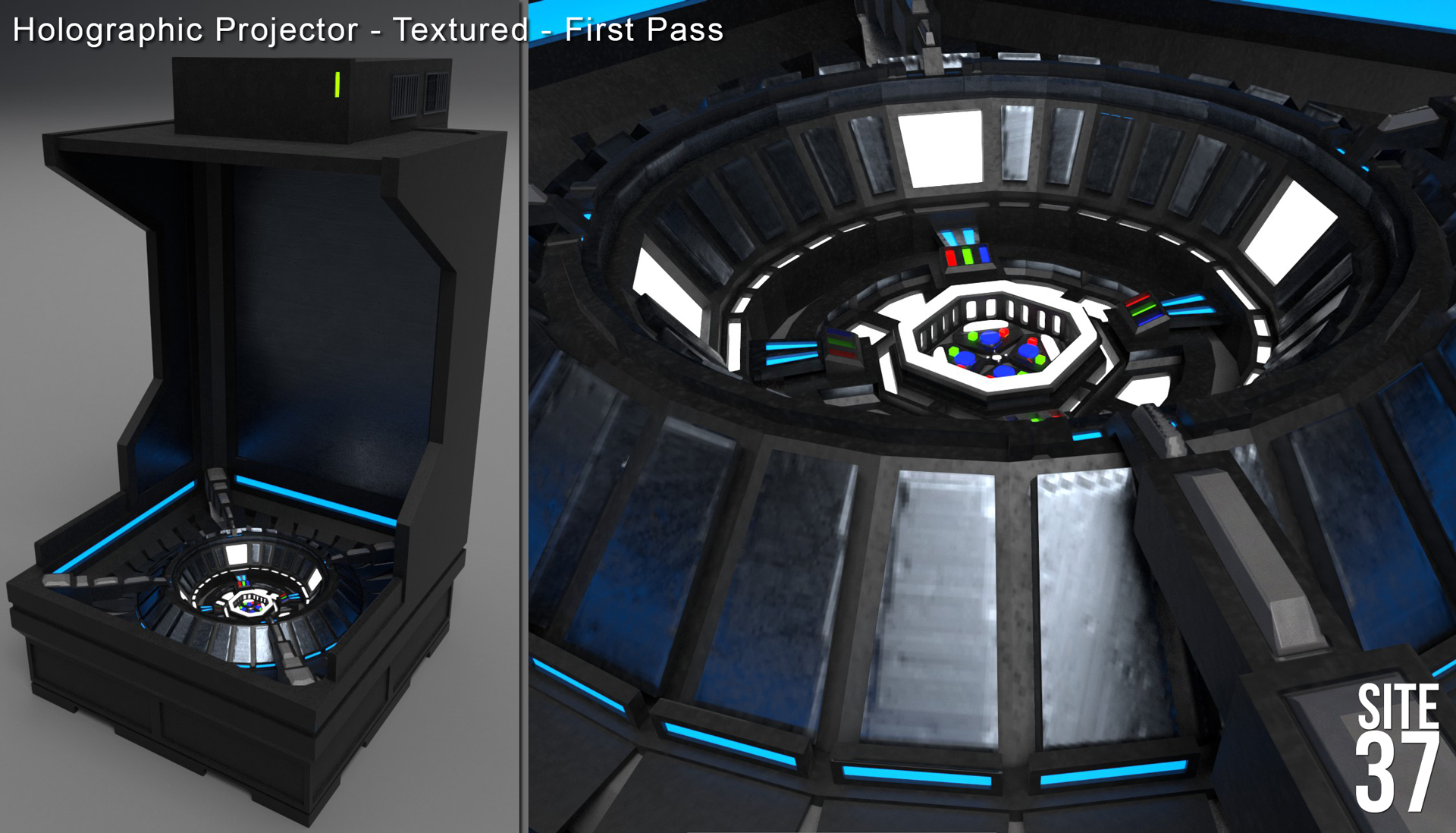 Holographic Projector - Base Textures