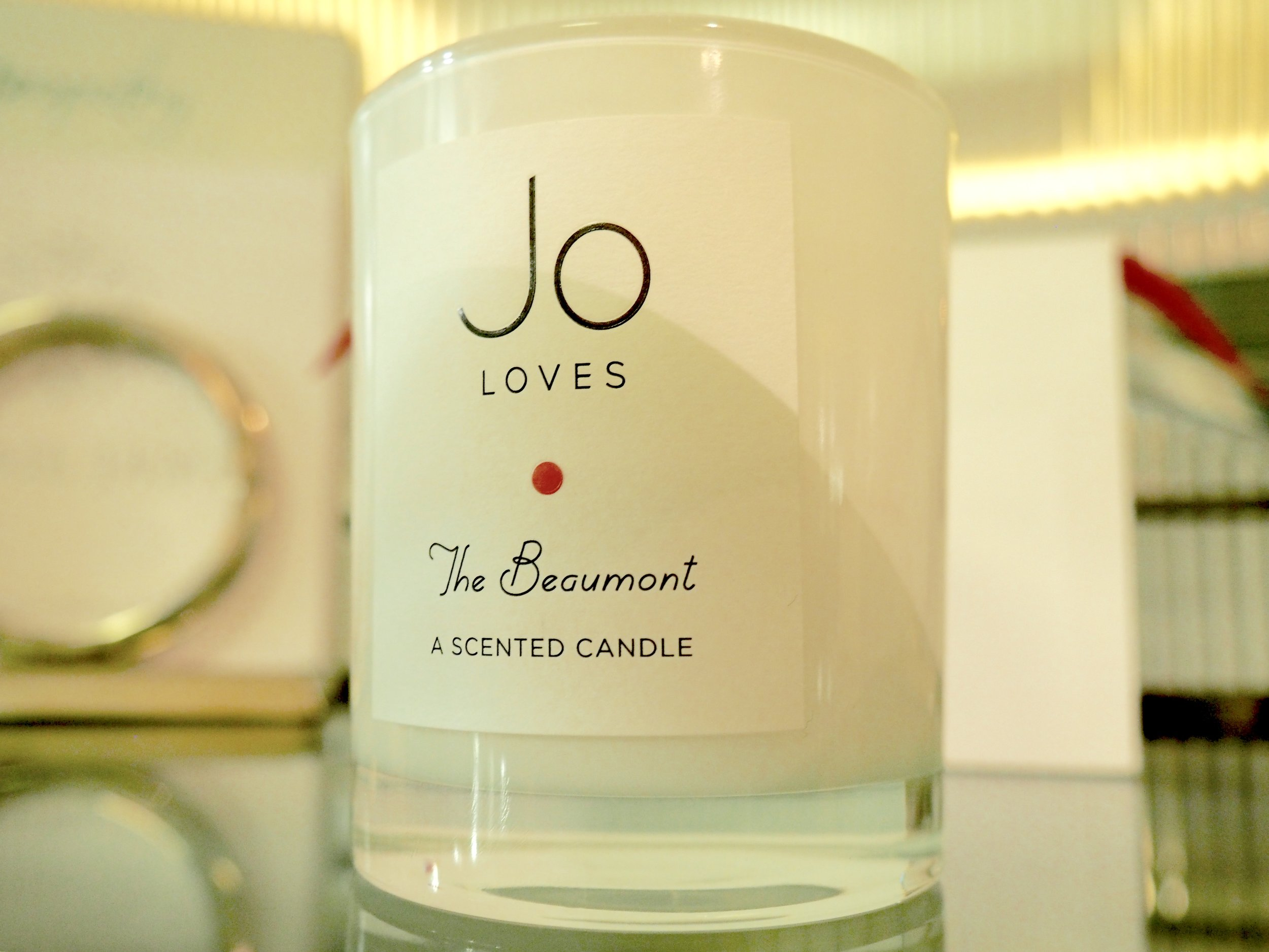 'The Beaumont' candle, made bespoke for The Beaumont Hotel by Jo Malone's newest and greatest brand 'Jo Loves'