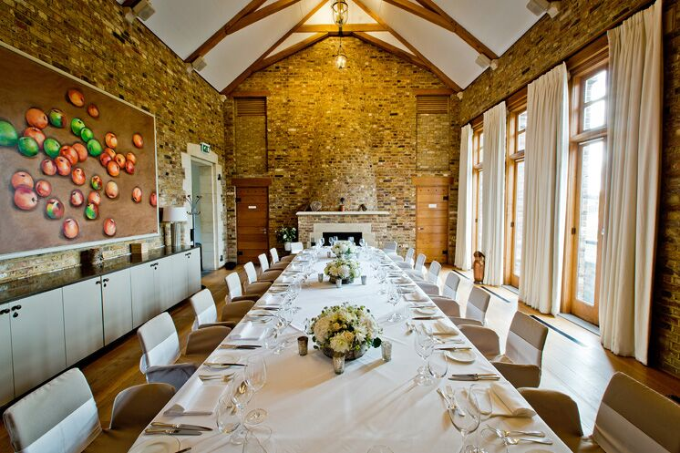 Tower House table set for wedding