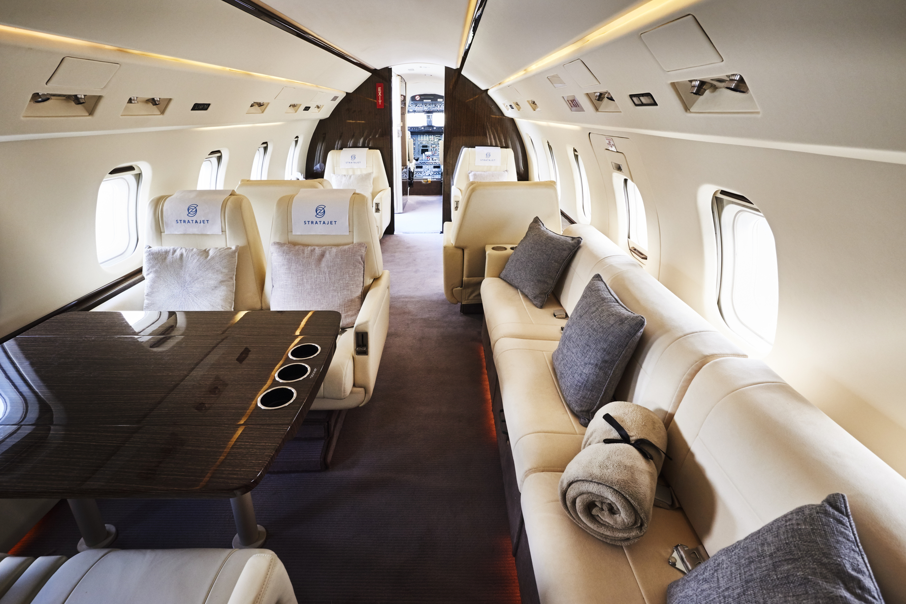 Stratajet - private jet interior