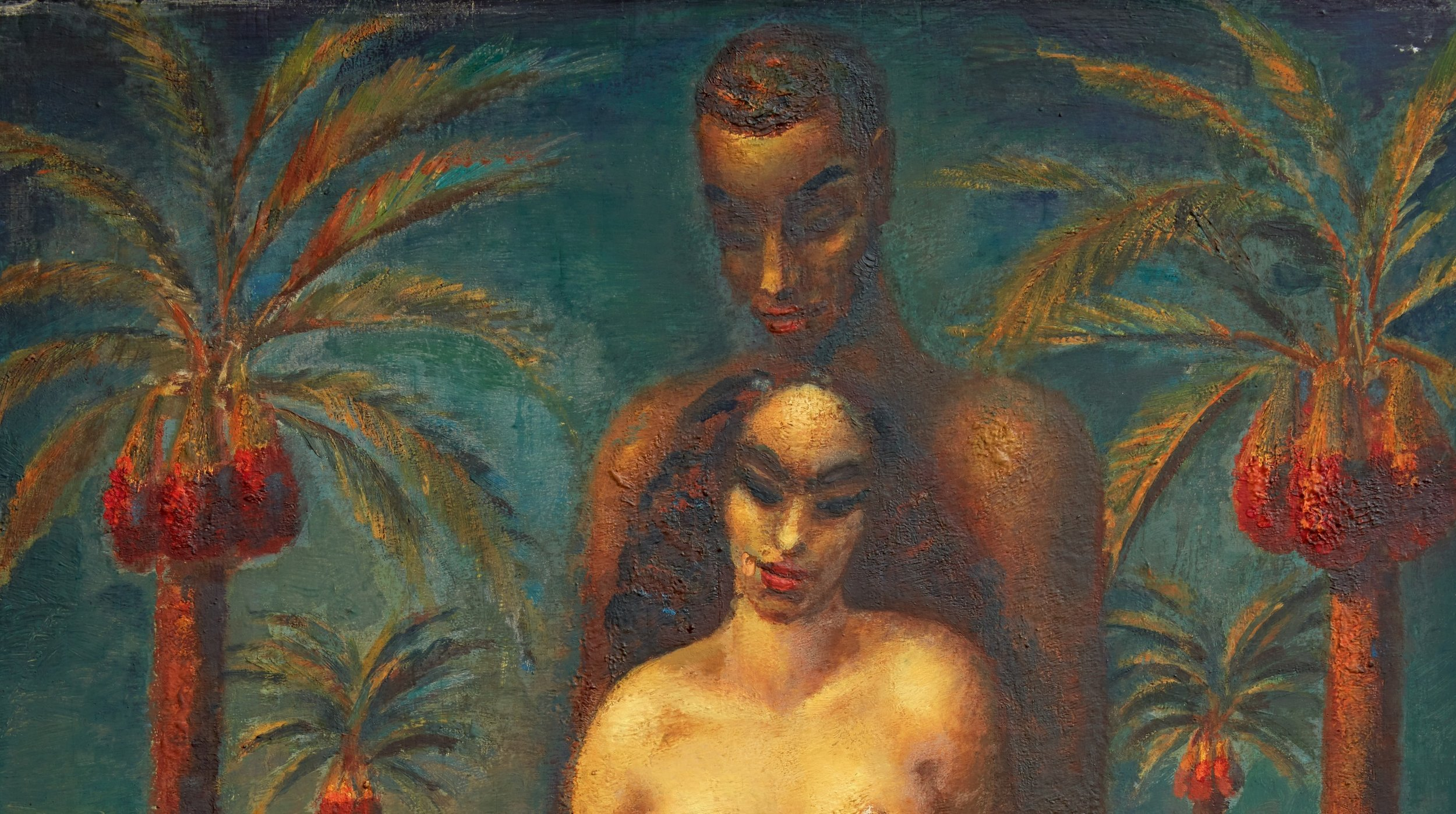 Adam and Eve will highlight Sotheby's 20th Century Art / Middle East auction on 24 April, when it will be offered with an estimate of £300,000-500,000. Image credit: Sotheby's London.