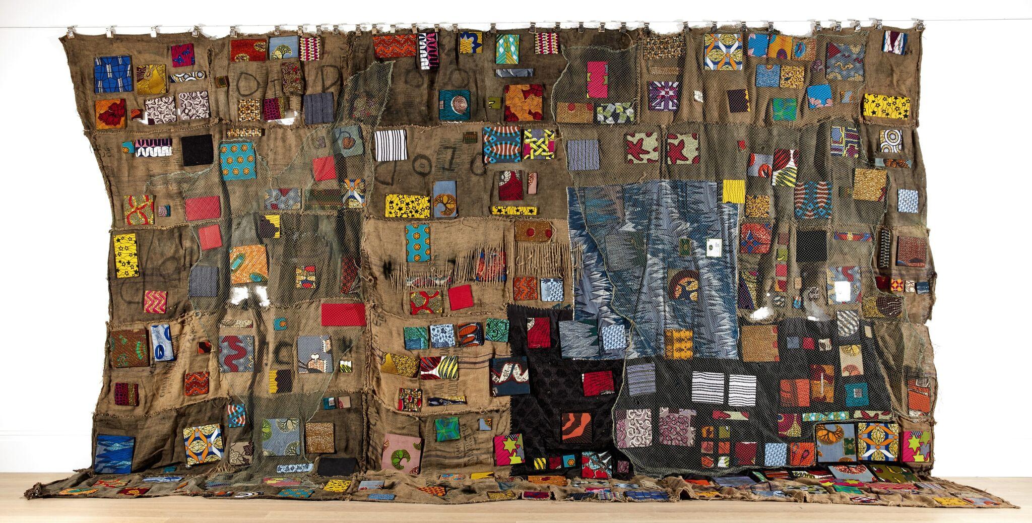 Ibrahim Mahama, Chale Wote (2014), jute sacks and mixed media, £60,000-90,000
