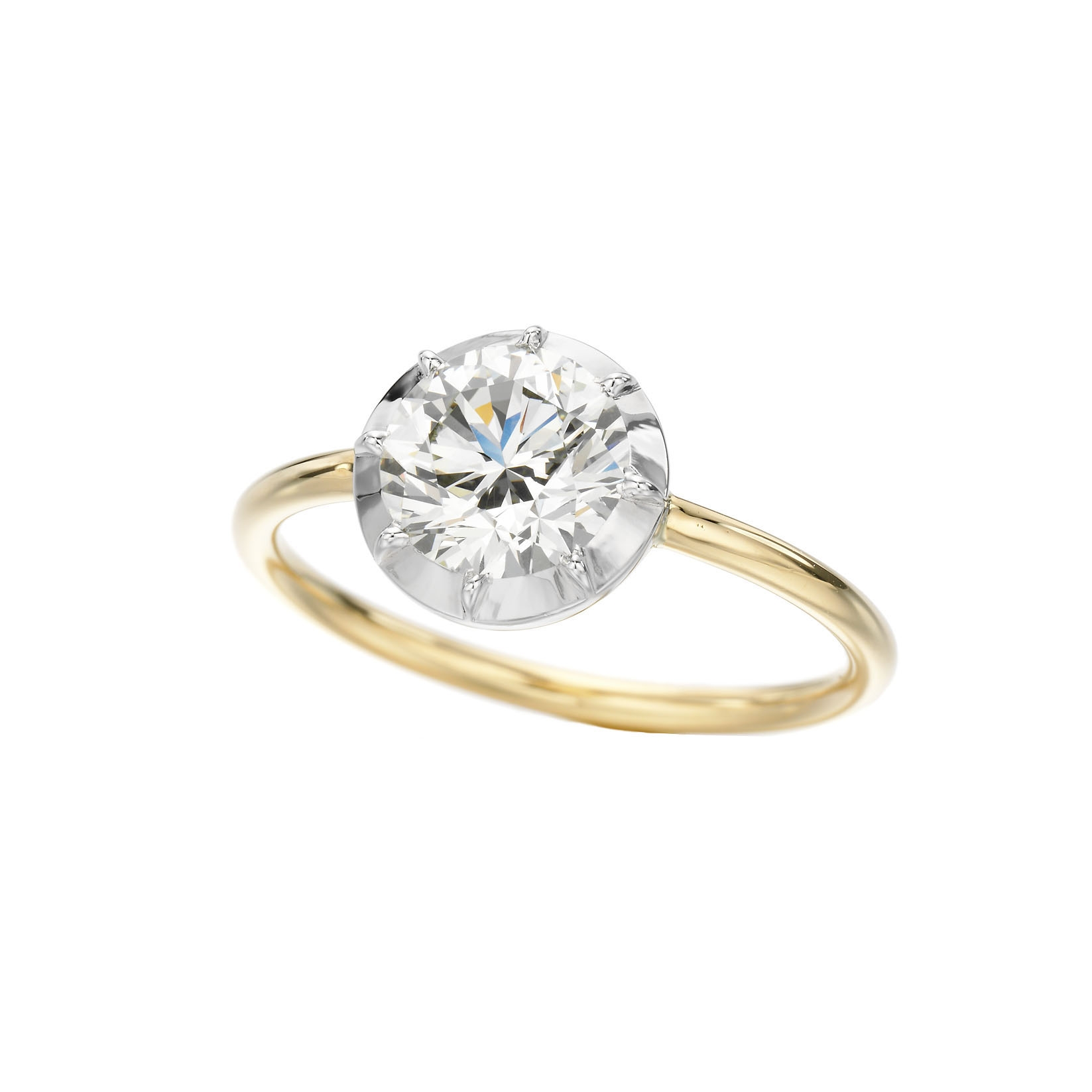Signature Button Back Ring