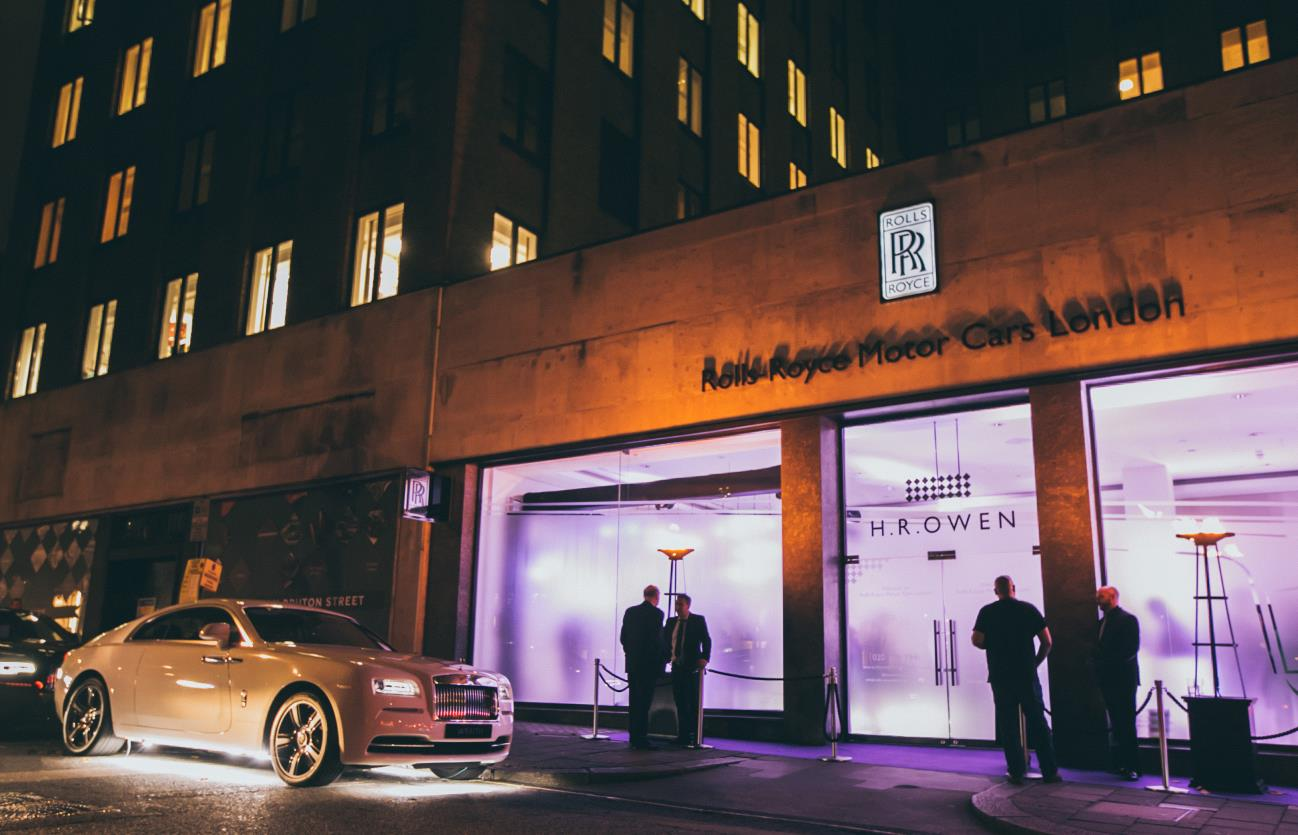 The drive-out is an example of the way the Rolls-Royce dealership offers the finest service and experiences around.