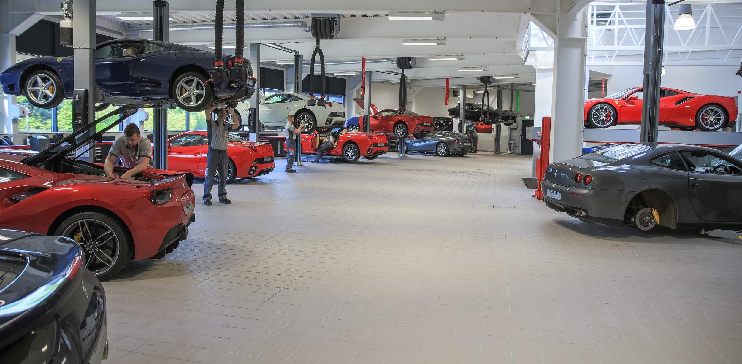 New Ferrari Service Centre at Meridien Modena, Lyndhurst - increased capacity workshop.jpg