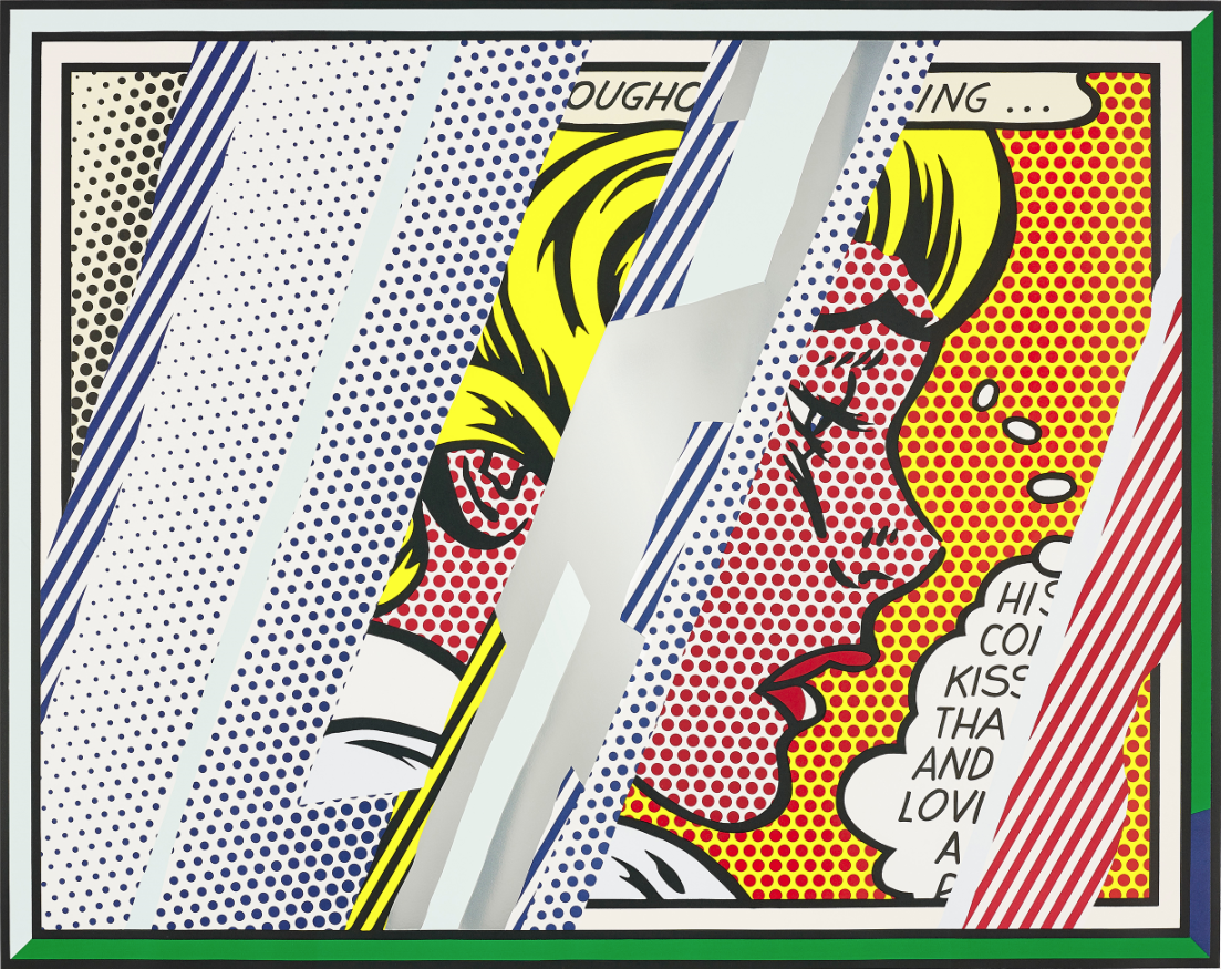 Roy Lichtenstein |'Reflections on Girl, from Reflections Series'| 1990 | Estimate: £60,000 – 80,000