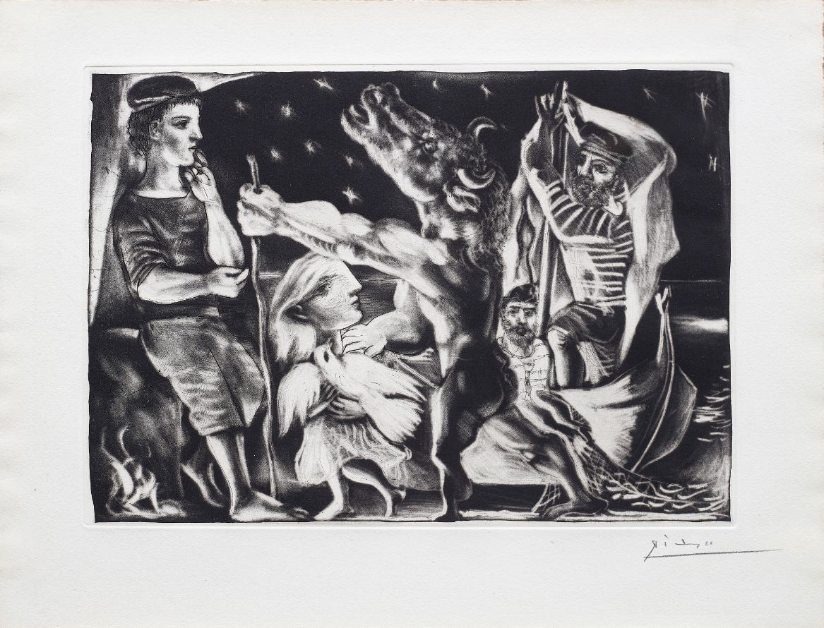 Pablo Picasso |'Blind Minotaur led by a little Girl in the Night'| 1934 |Estimate: £60,000 – 80,000