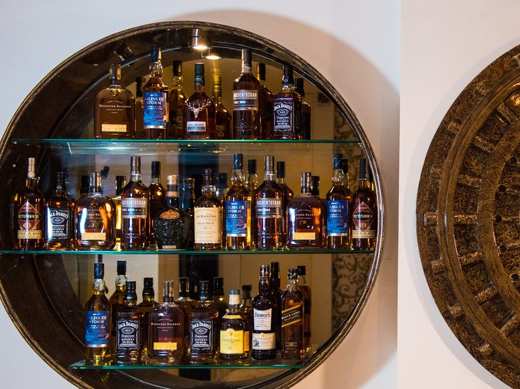 Whisky wall in the Private Dining Room