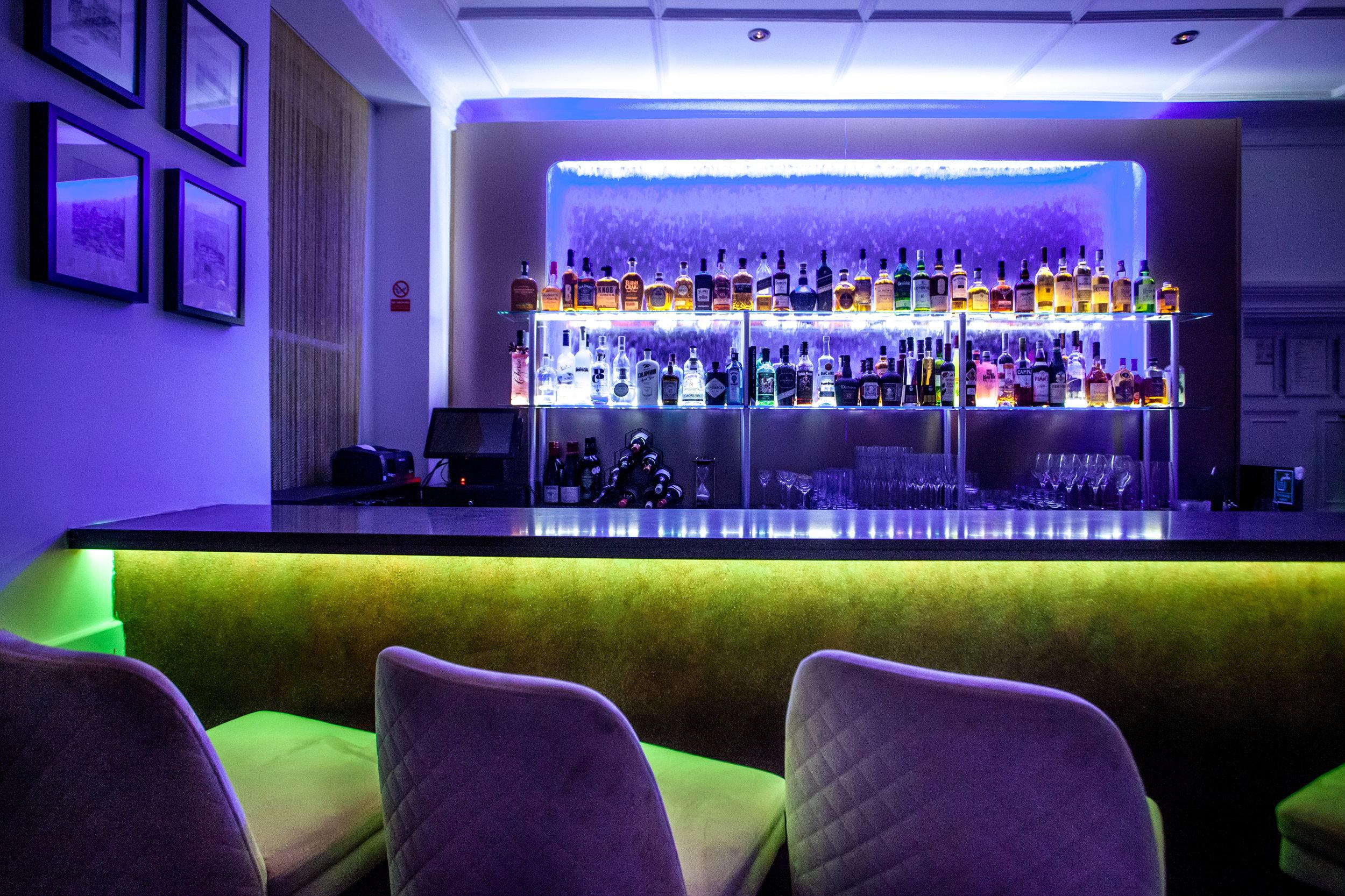 Upstairs bar area at MATSYA