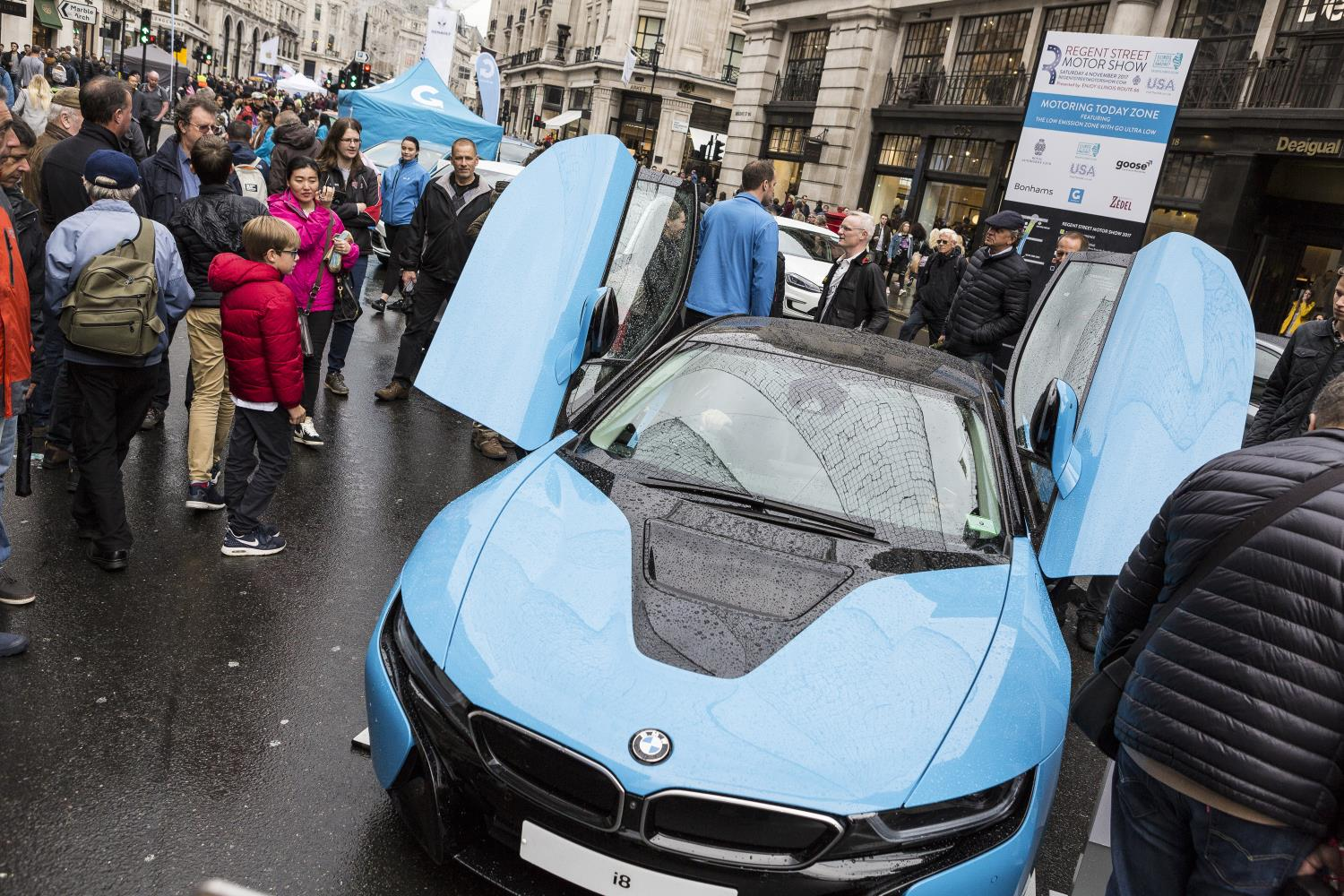 Huge crowds at the annual Regent Street Motor Show
