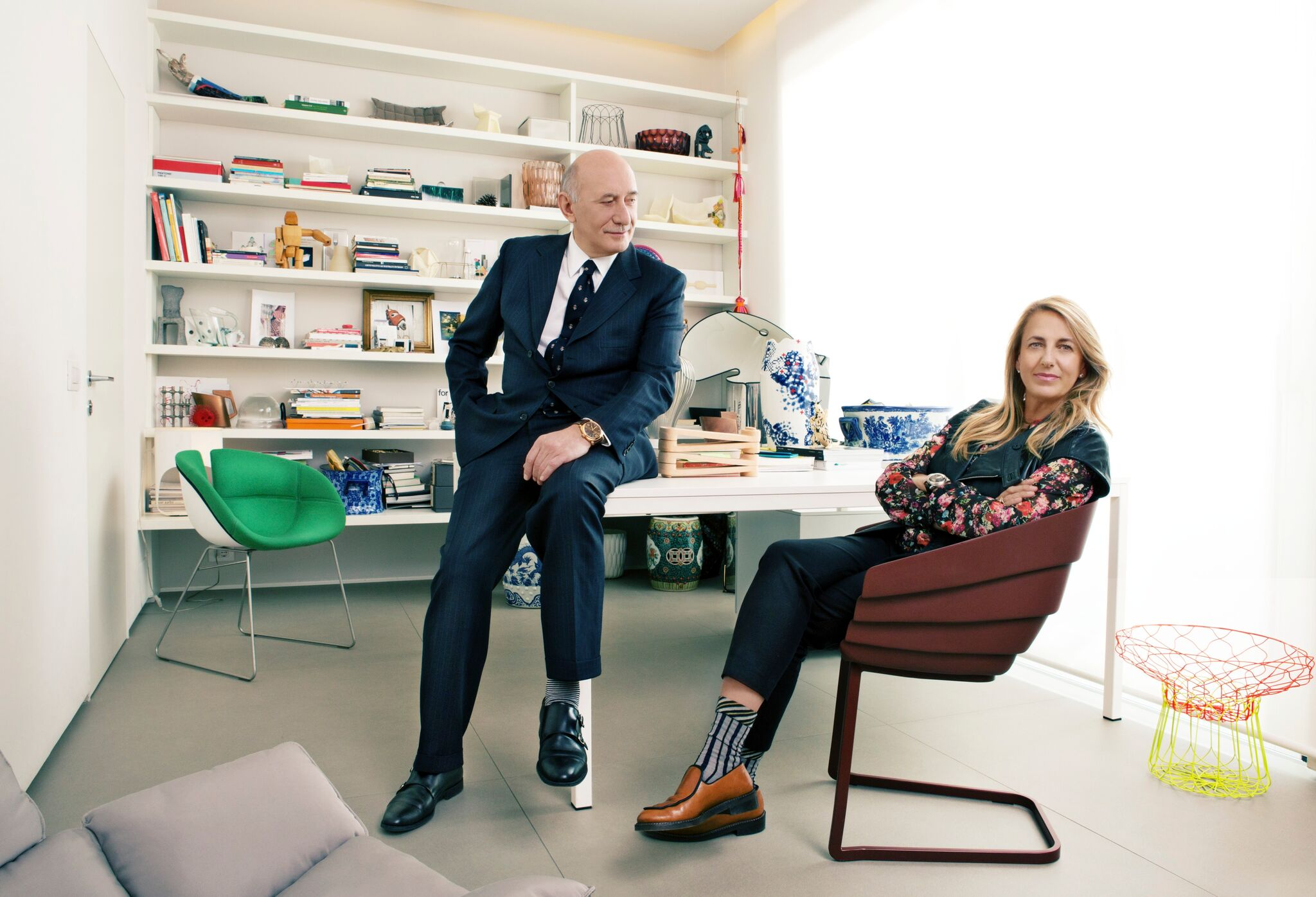 Mr. Bonati and Patricia Urquiola