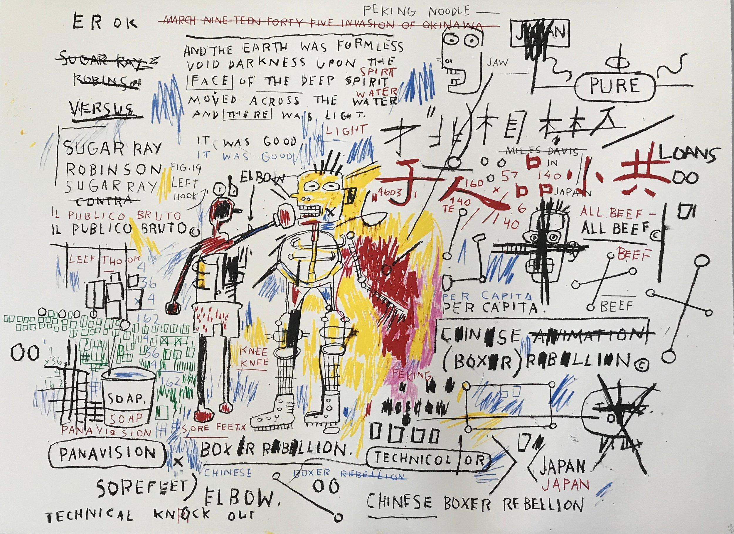 Boxer Rebellion - Jean-Michel Basquiat