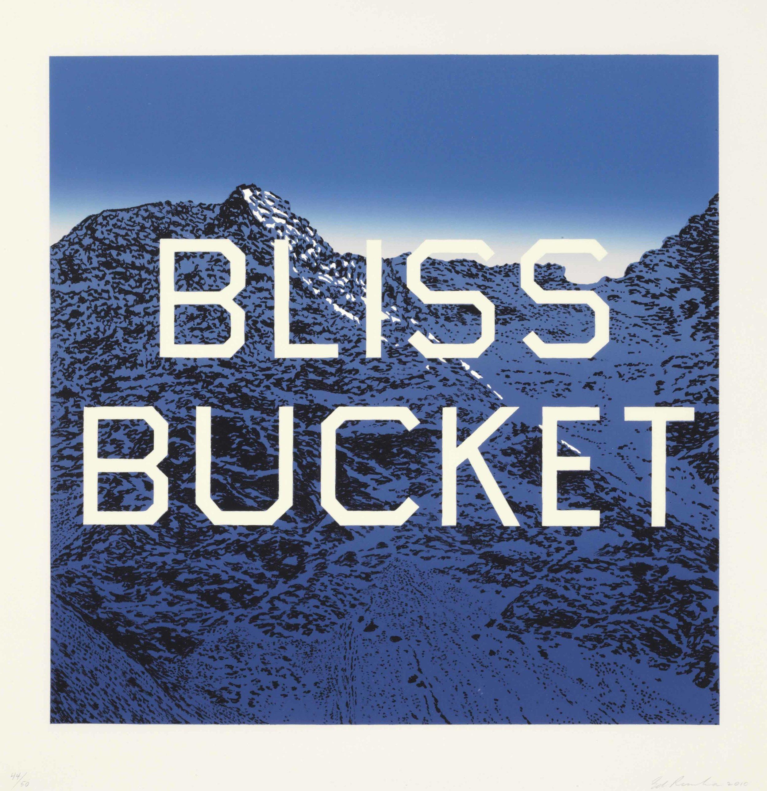 Bliss Bucket - Ed Ruscha