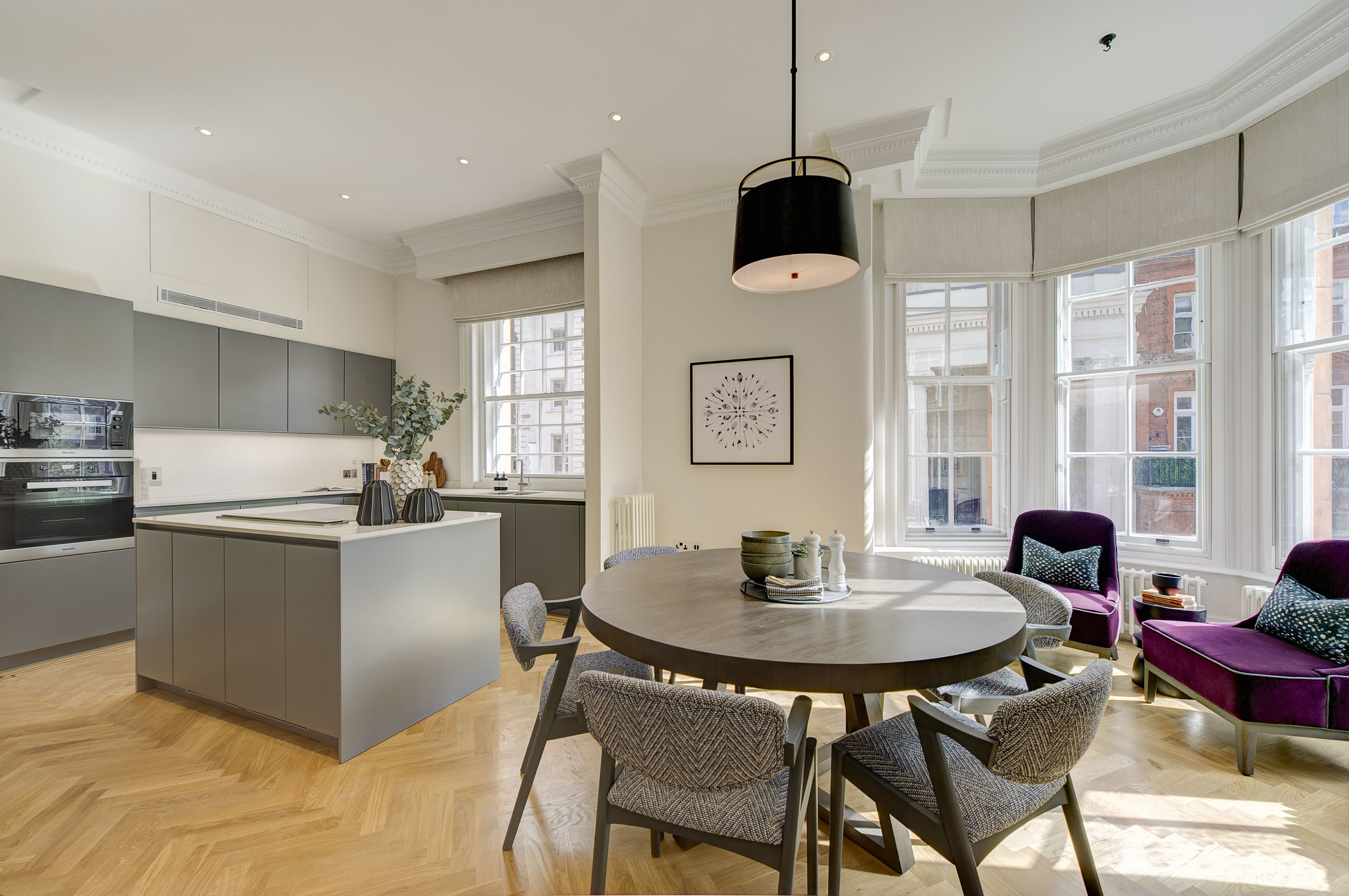 """""""This is an incredibly bright, newly refurbished flat with really good entertaining space and great views."""" - Charles Medina, Property Agent."""